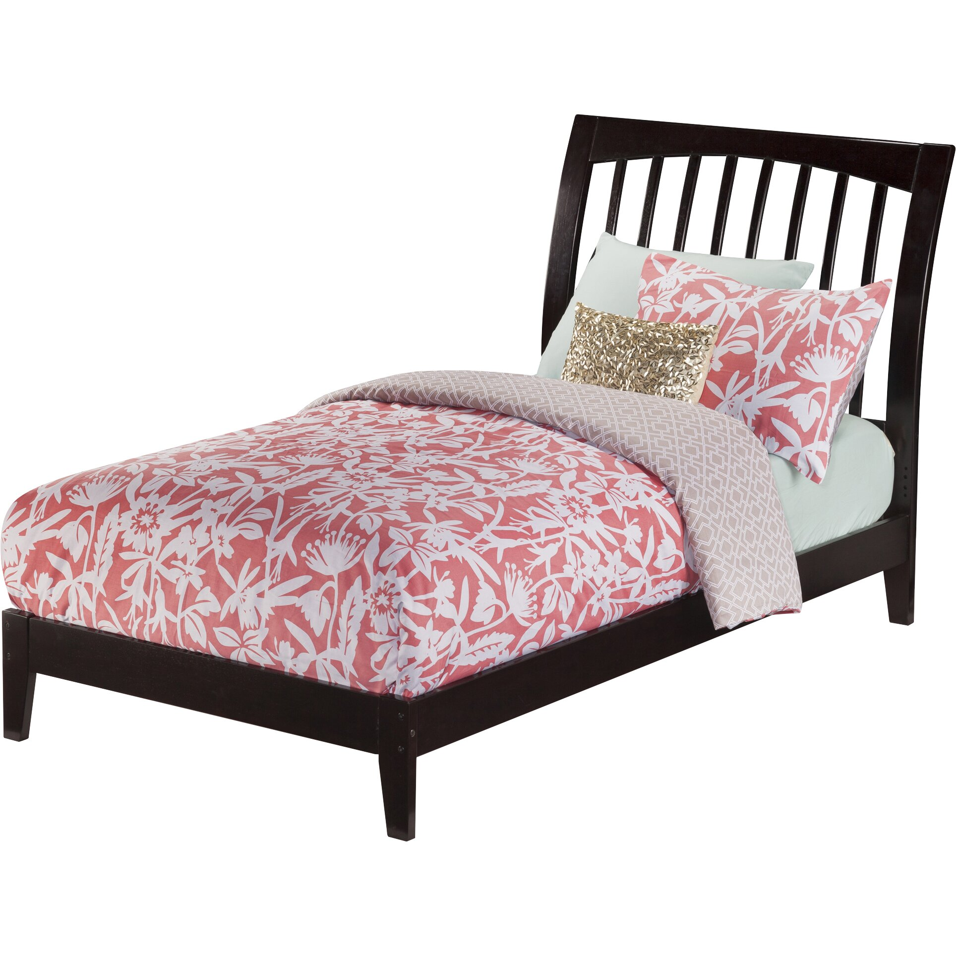 Atlantic furniture orleans platform bed reviews wayfair for Foot of bed furniture