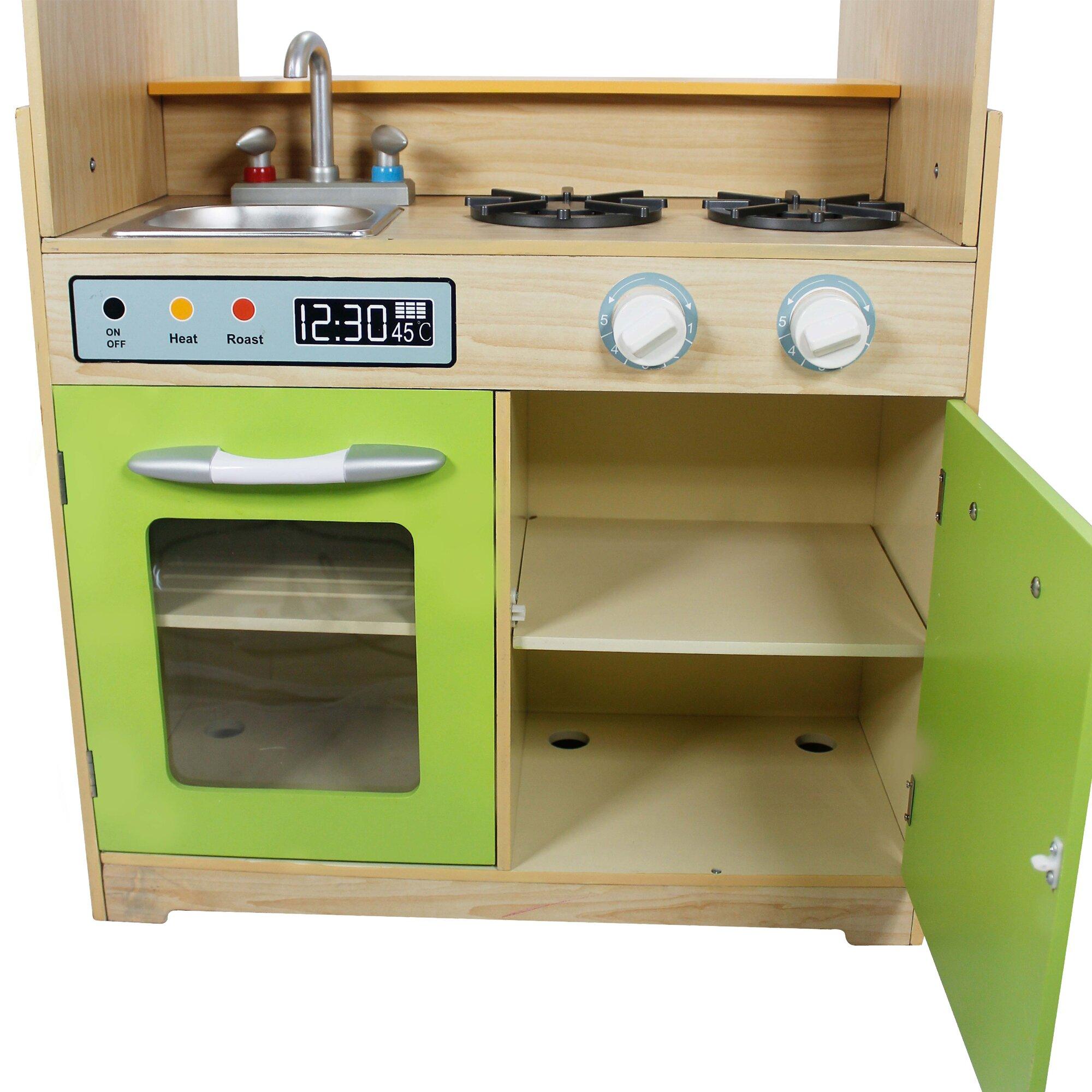 teamson kids play kitchen with dual washers set wayfair. Black Bedroom Furniture Sets. Home Design Ideas