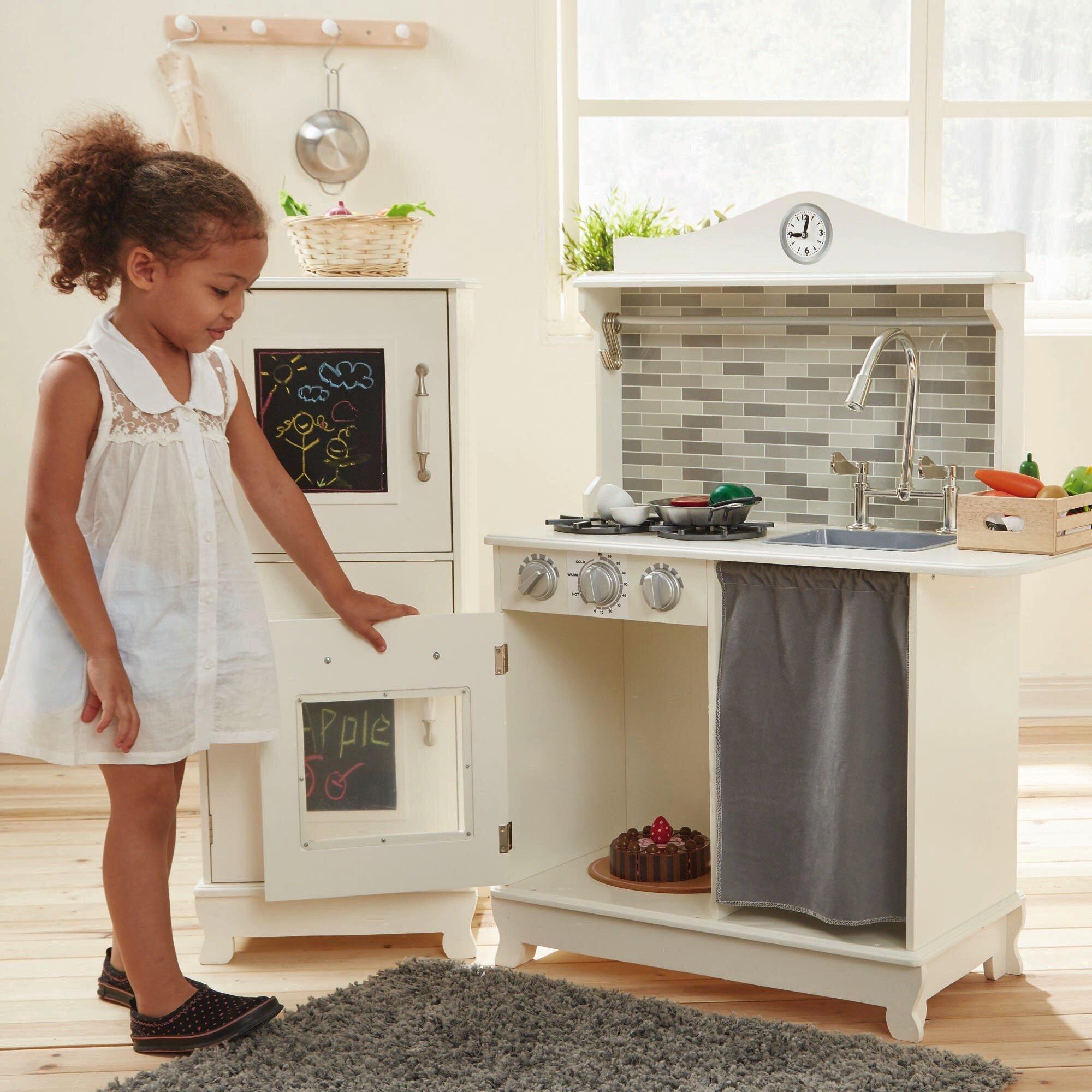 Teamson Kids 3 Piece Sunday Brunch Wooden Play Kitchen Set Reviews Wayfair