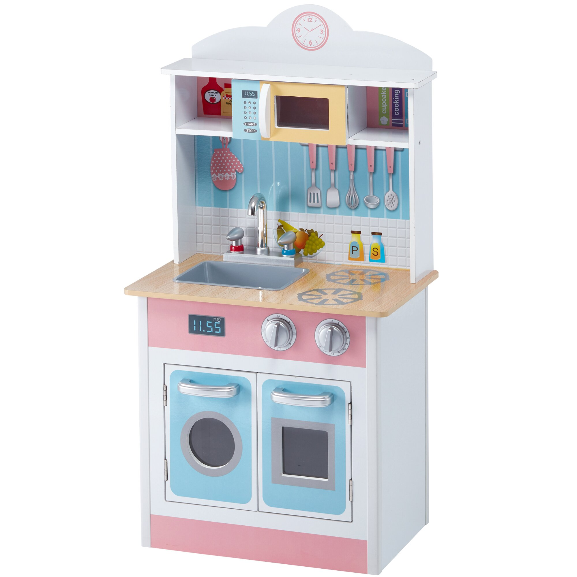 Teamson Kids My Little Chef Pastel Small Play Kitchen