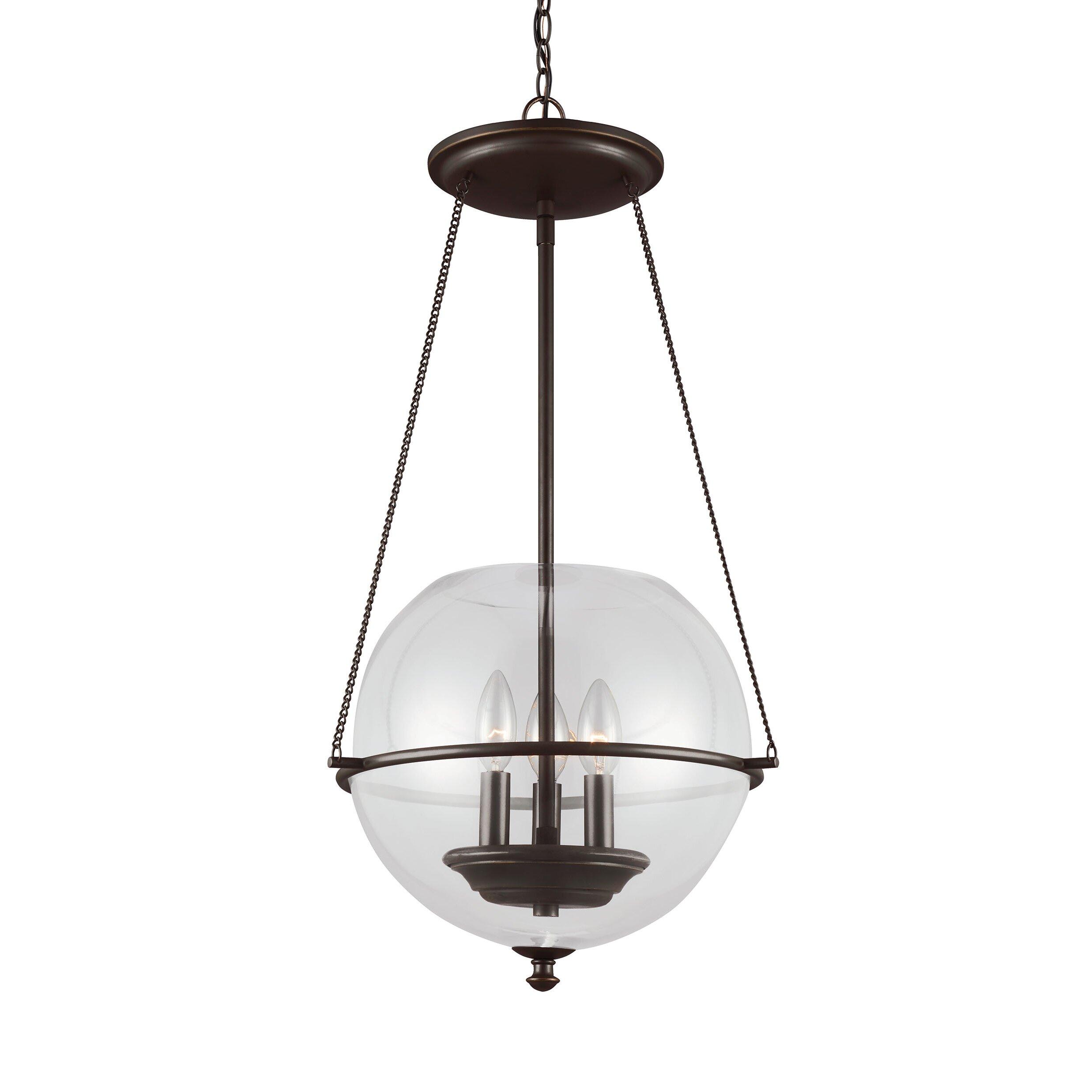 Sea Gull Lighting Havenwood 3 Light Globe Pendant