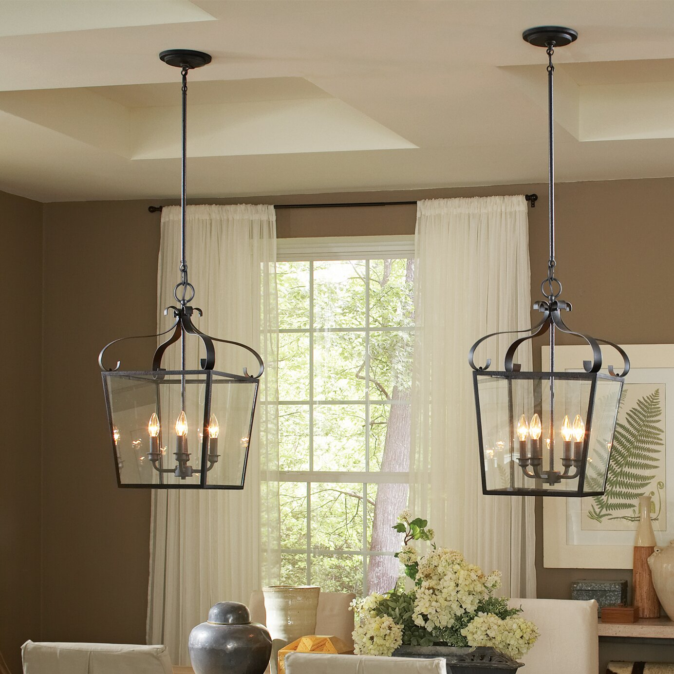 Foyer Ceiling Queen : Sea gull lighting lockheart light foyer lantern pendant