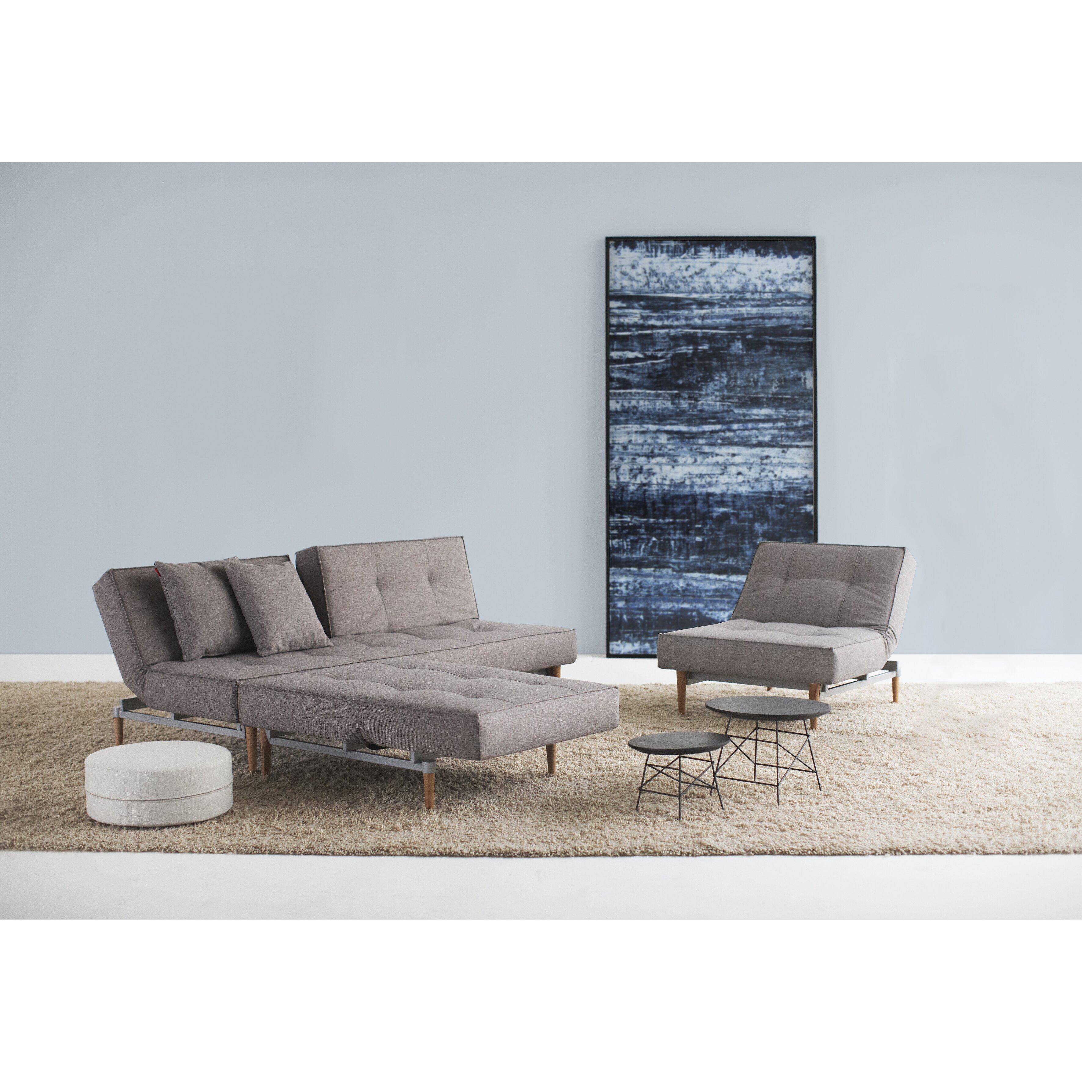 innovation living inc split back sleeper sofa reviews wayfair. Black Bedroom Furniture Sets. Home Design Ideas