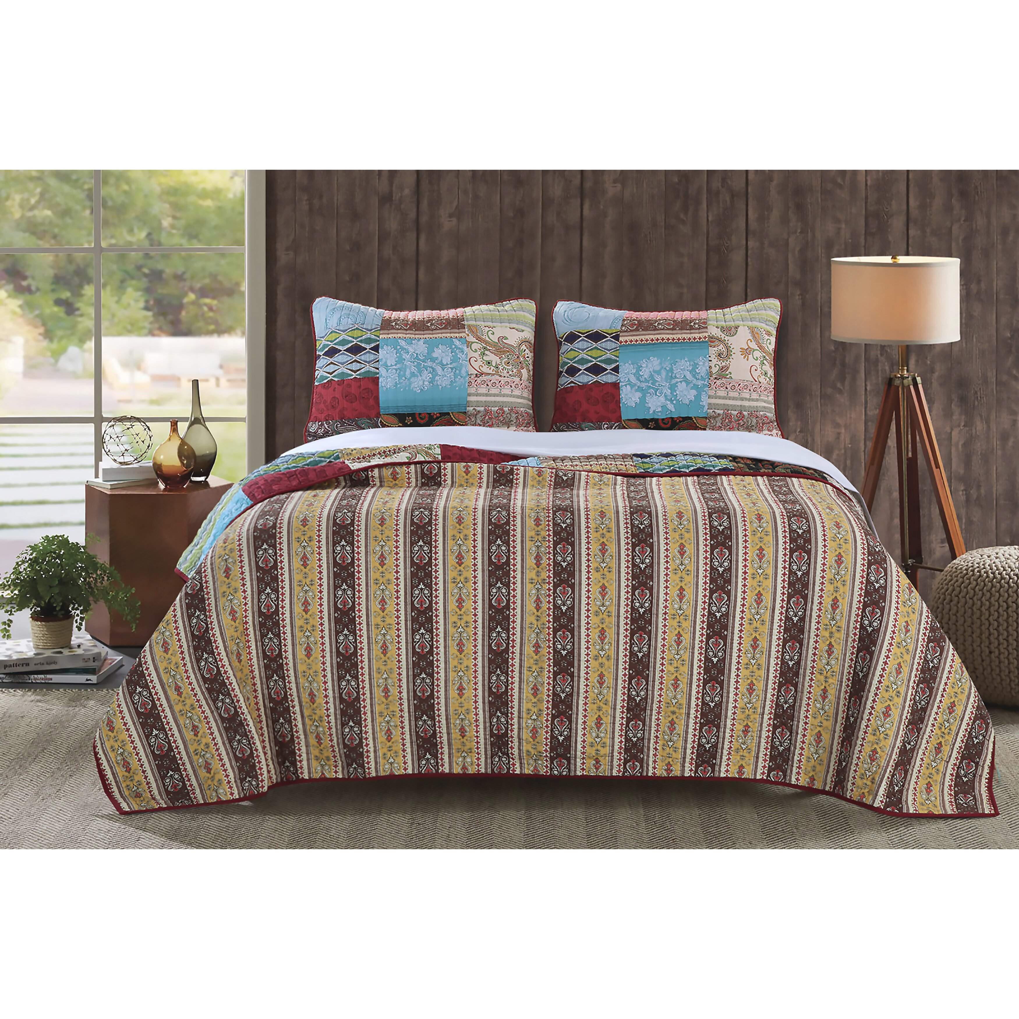 Greenland Home Fashions Bohemian Dream Reversible Quilt