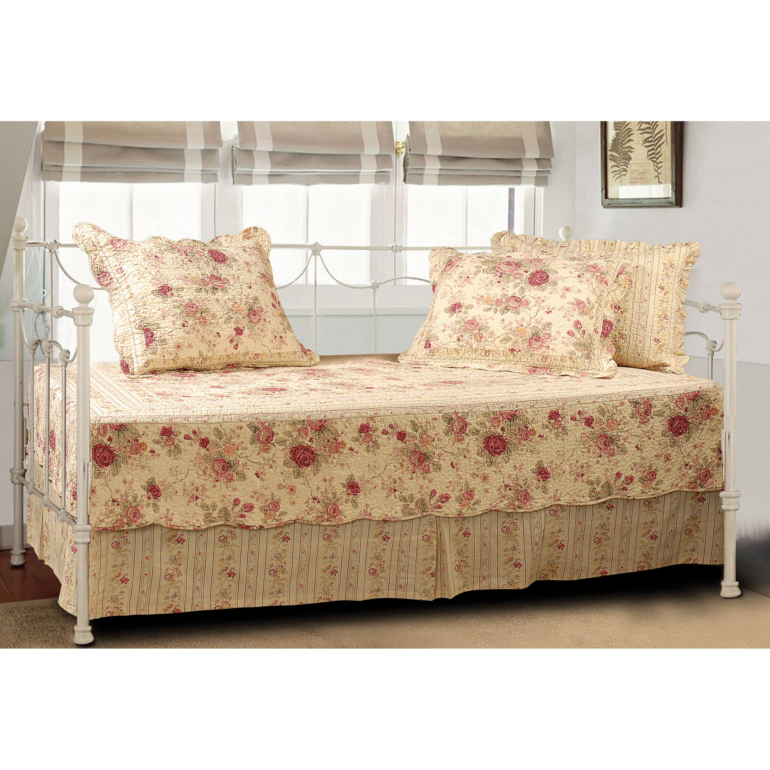 Greenland Home Fashions Antique Rose 5 Piece Reversible