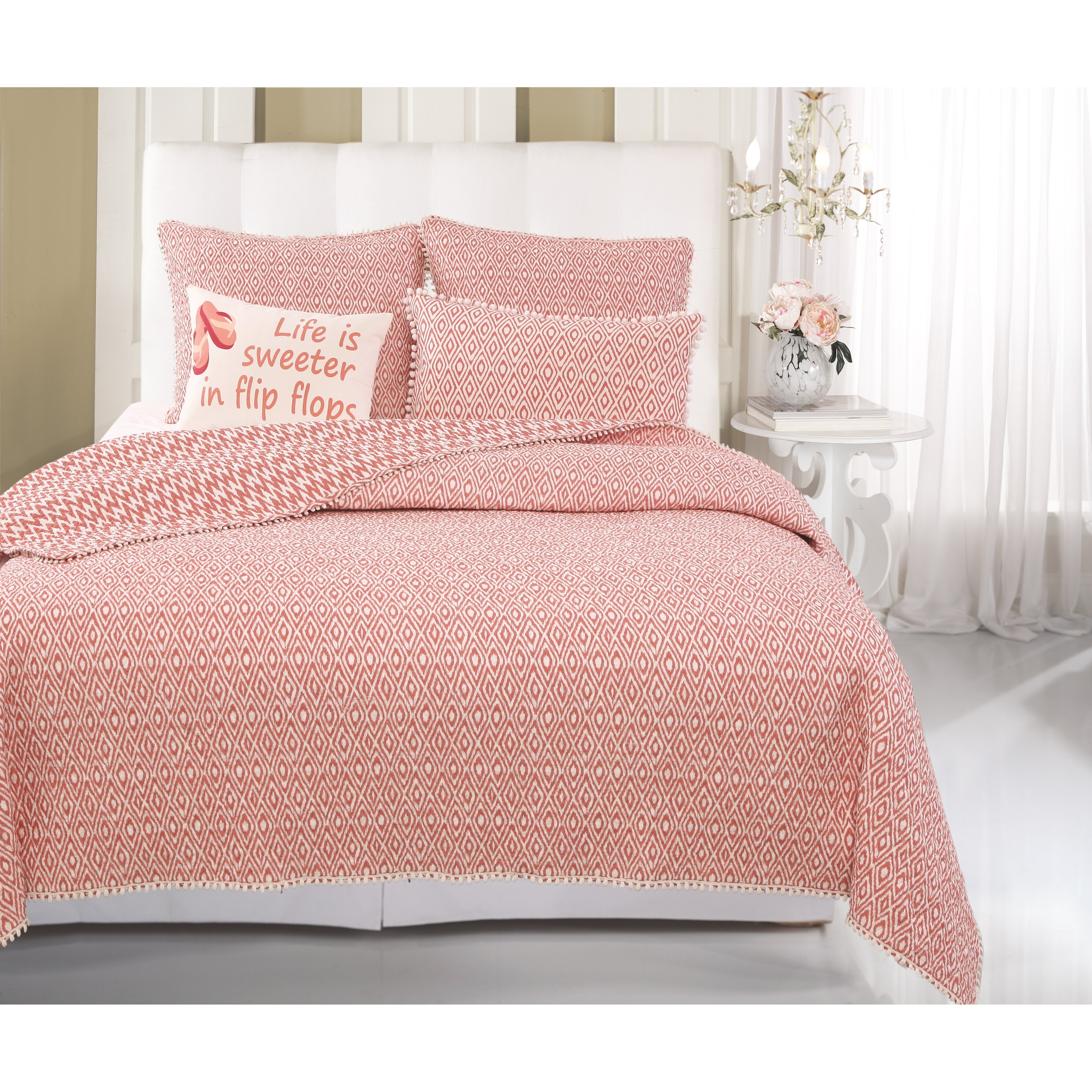 Greenland Home Fashions Belize 2 Piece Twin Quilt Set