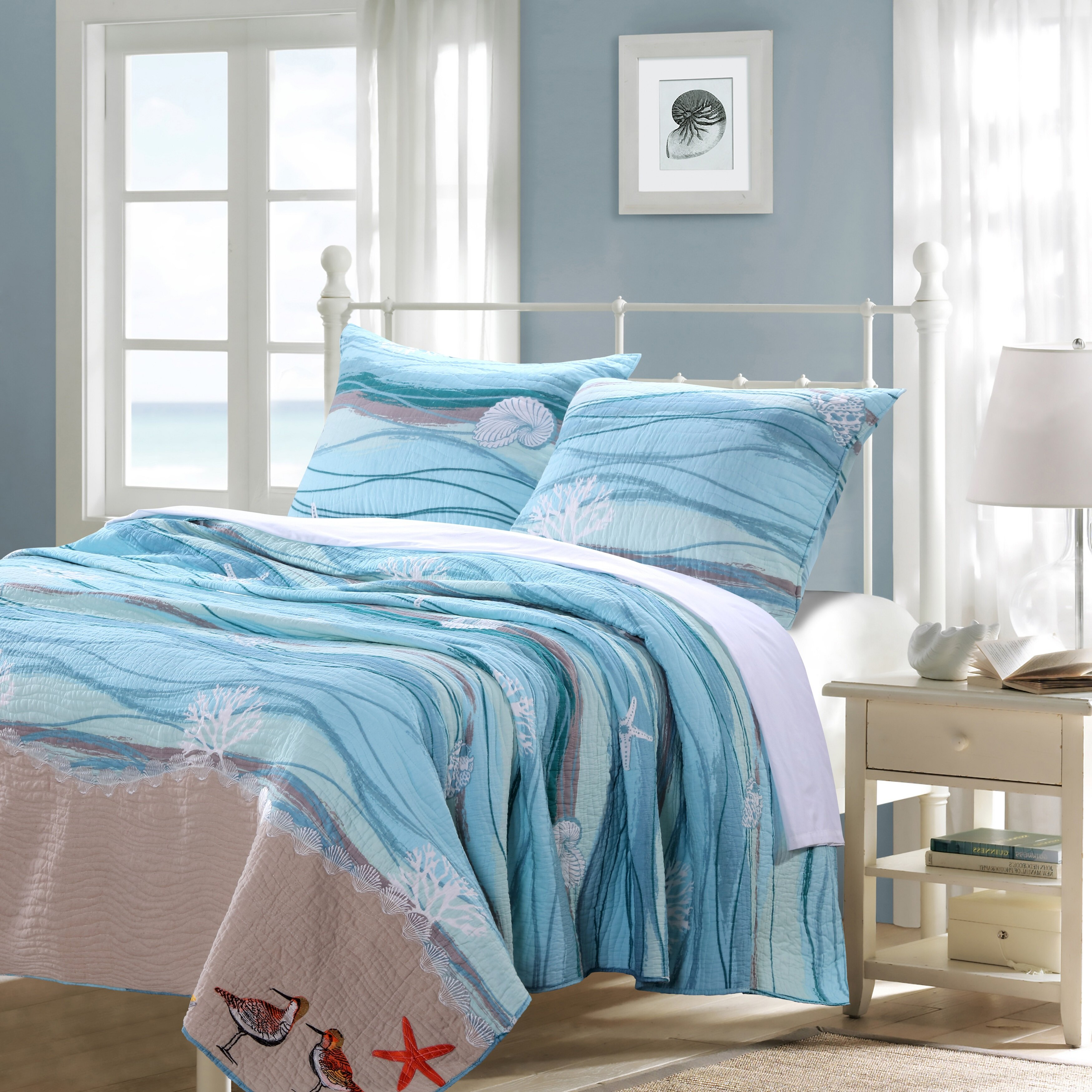 Greenland Home Fashions Maui Reversible Quilt Set