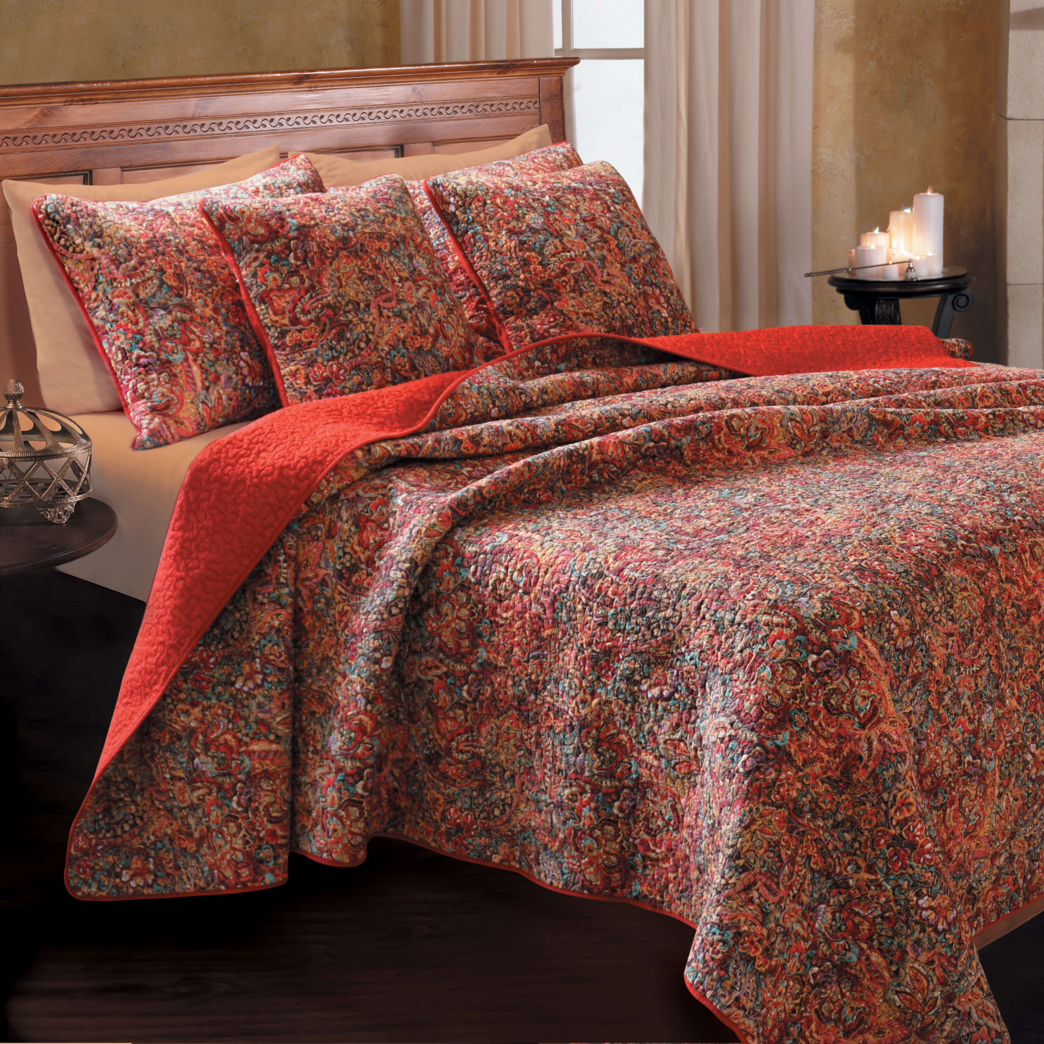 Greenland Home Fashions Persian Reversible Quilt Set