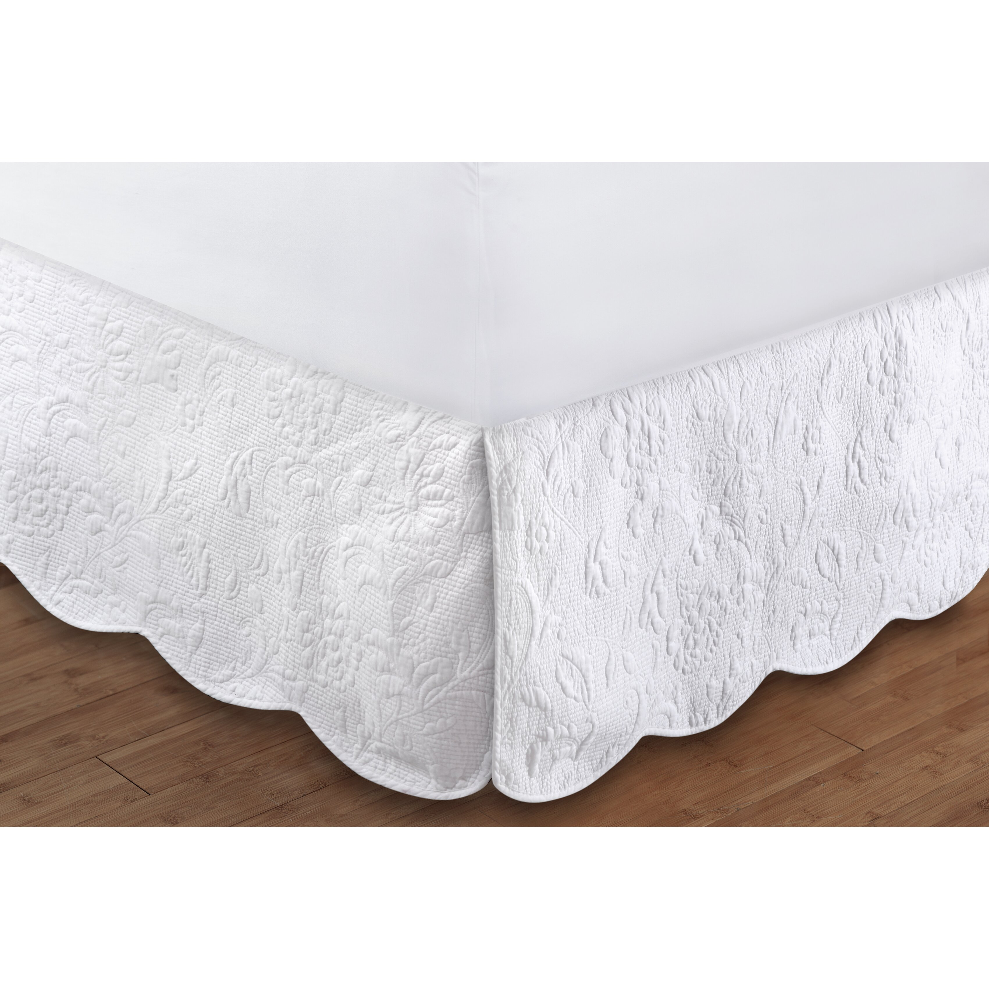 Greenland Home Fashions Gwyneth Quilted Bed Skirt