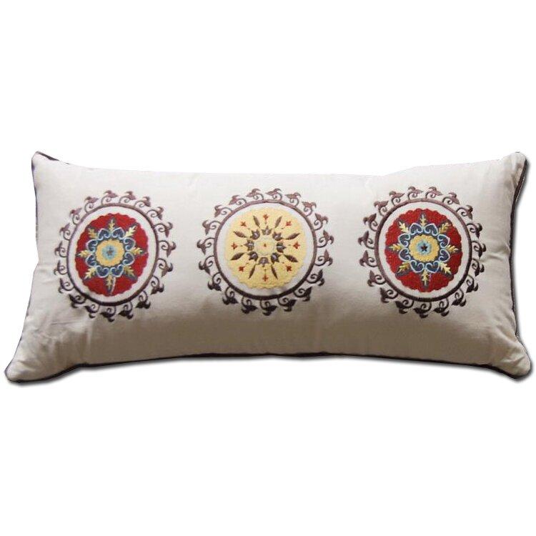Greenland Home Fashions Andorra Embroidered Cotton Boudoir Pillow & Reviews Wayfair