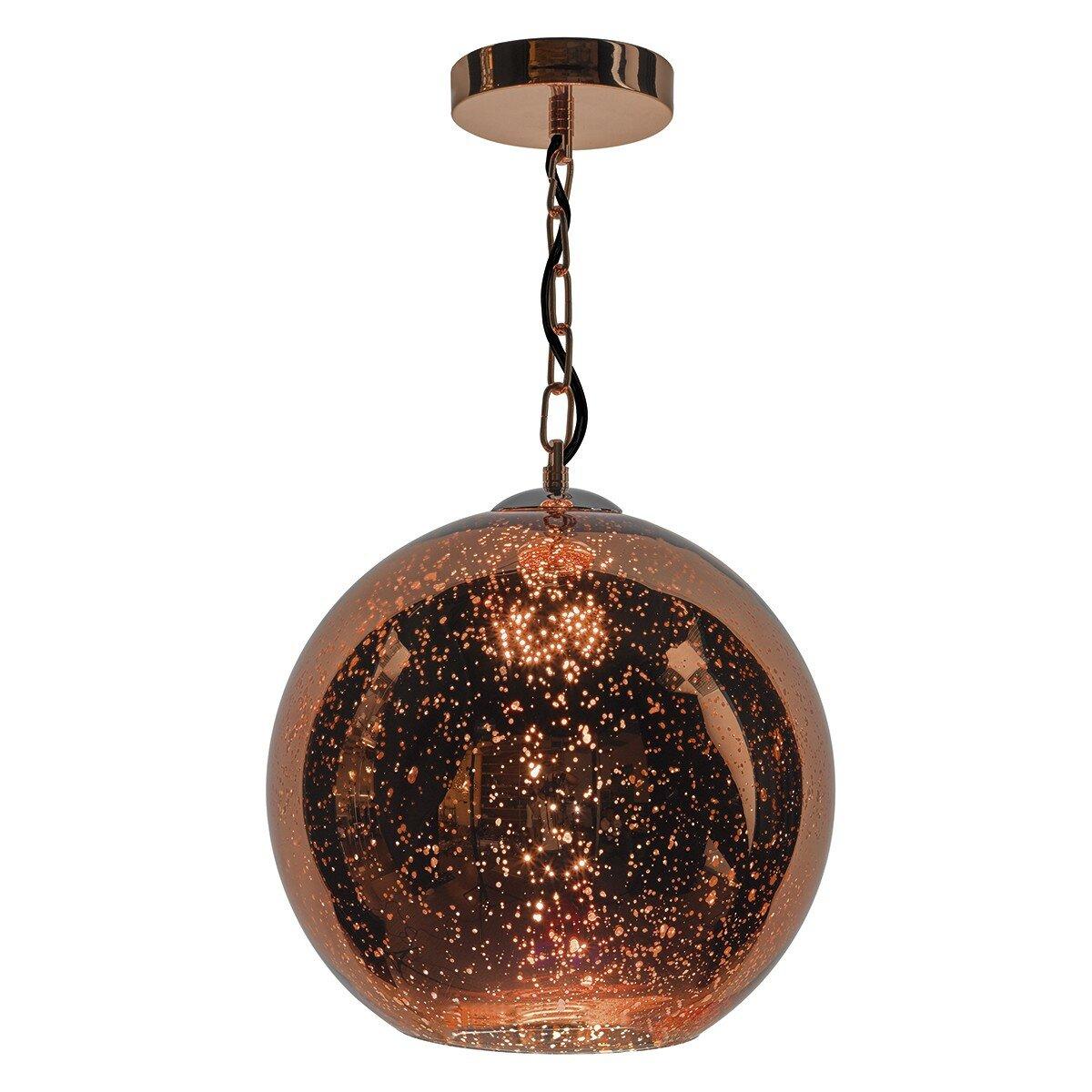 Dar Lighting Speckle 1 Light Globe Pendant