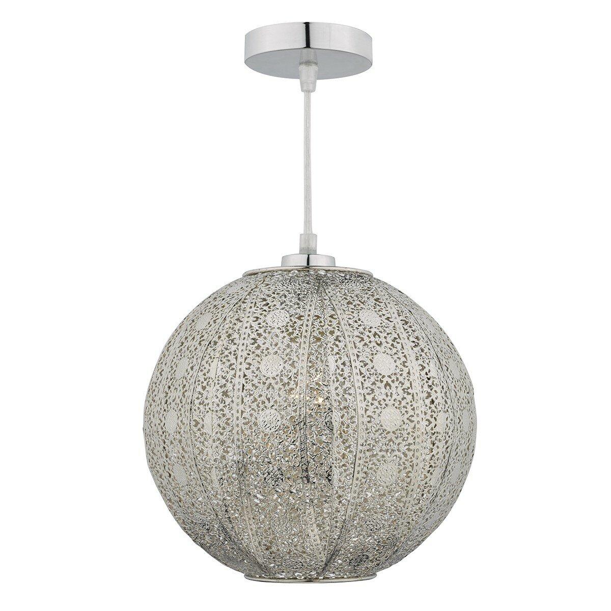 Dar Lighting Bazar 1 Light Globe Pendant