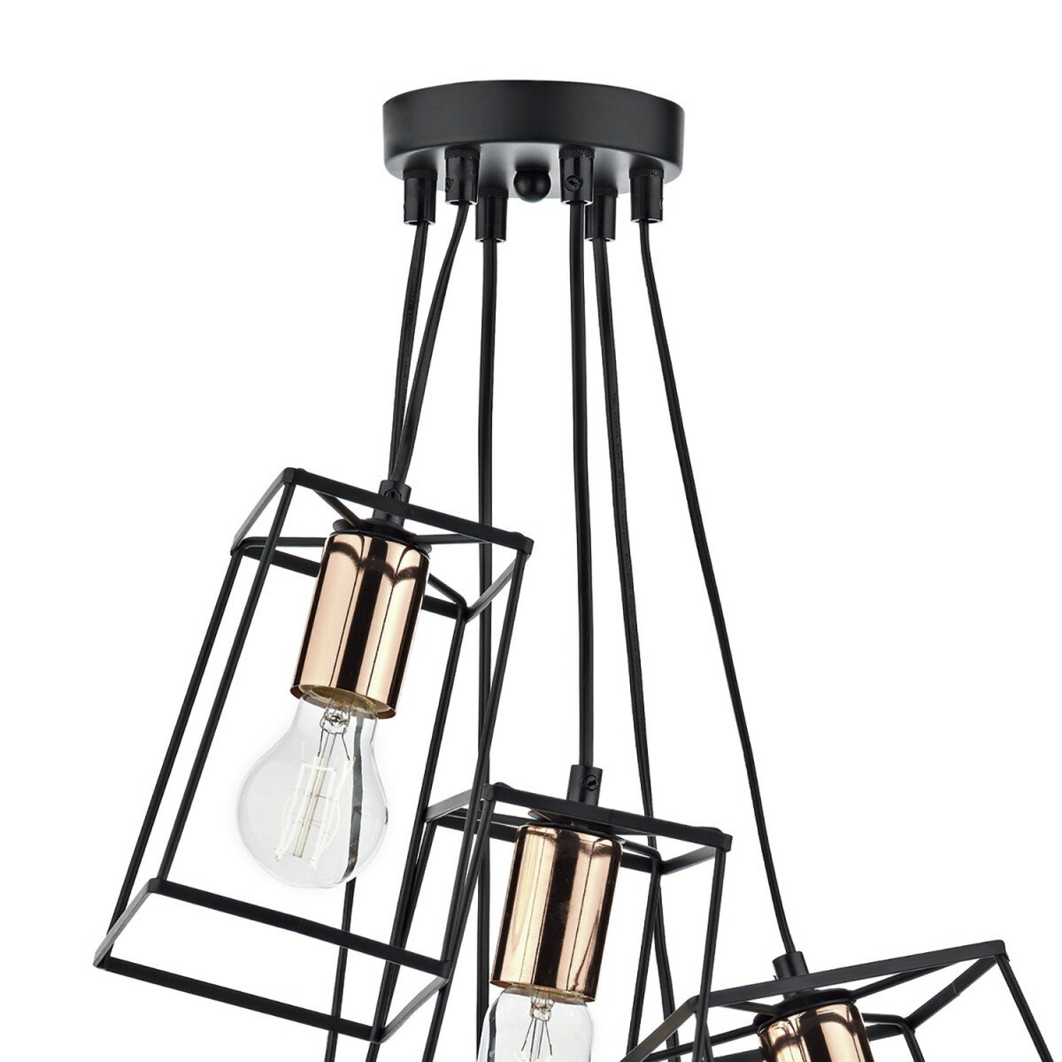 Dar Lighting Tower 6 Light Cascade Pendant
