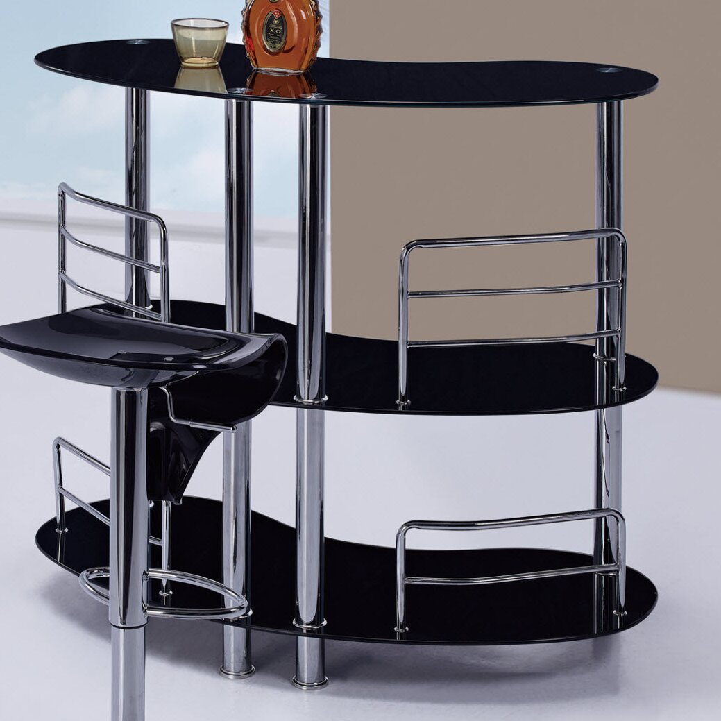 Global furniture usa bar with wine storage reviews wayfair Wine bar furniture