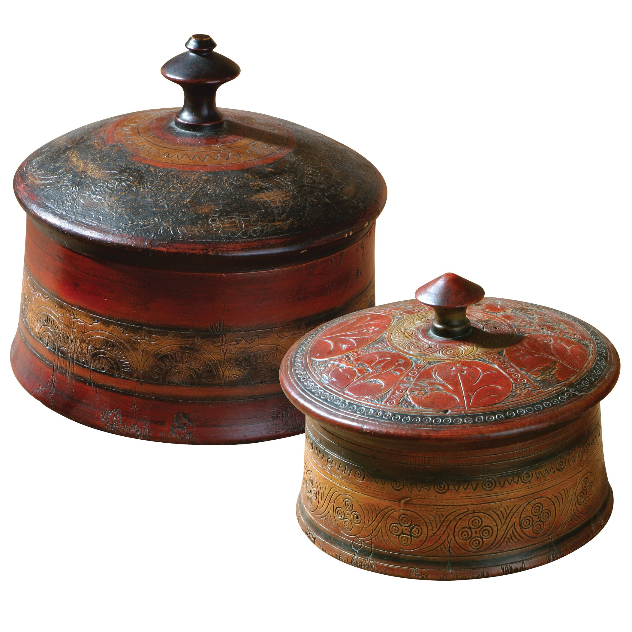 Uttermost Sherpa Round Decorative Boxes & Reviews