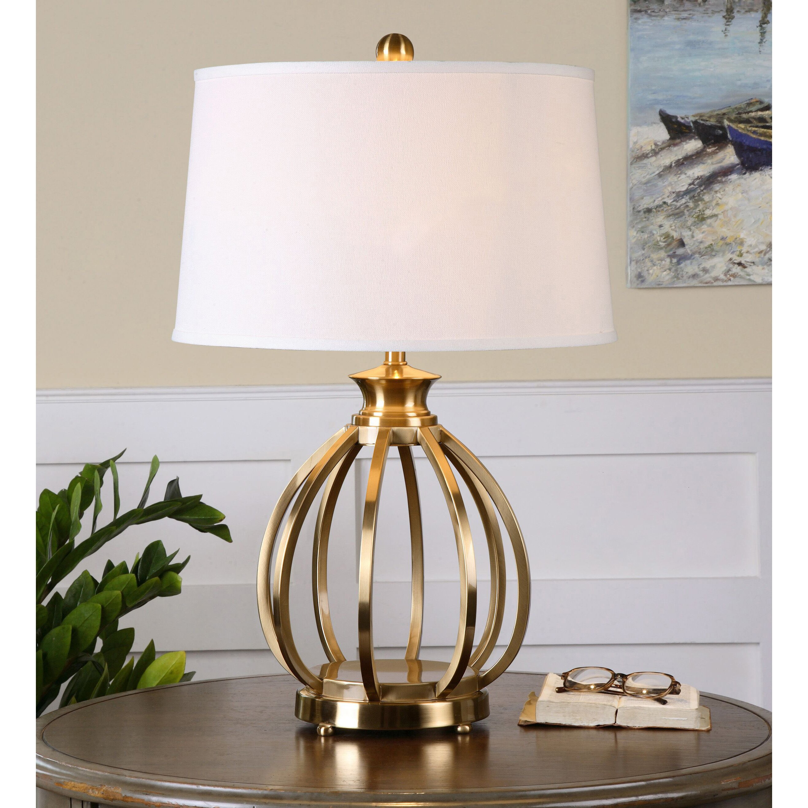 uttermost decimus 28 table lamp reviews wayfair. Black Bedroom Furniture Sets. Home Design Ideas