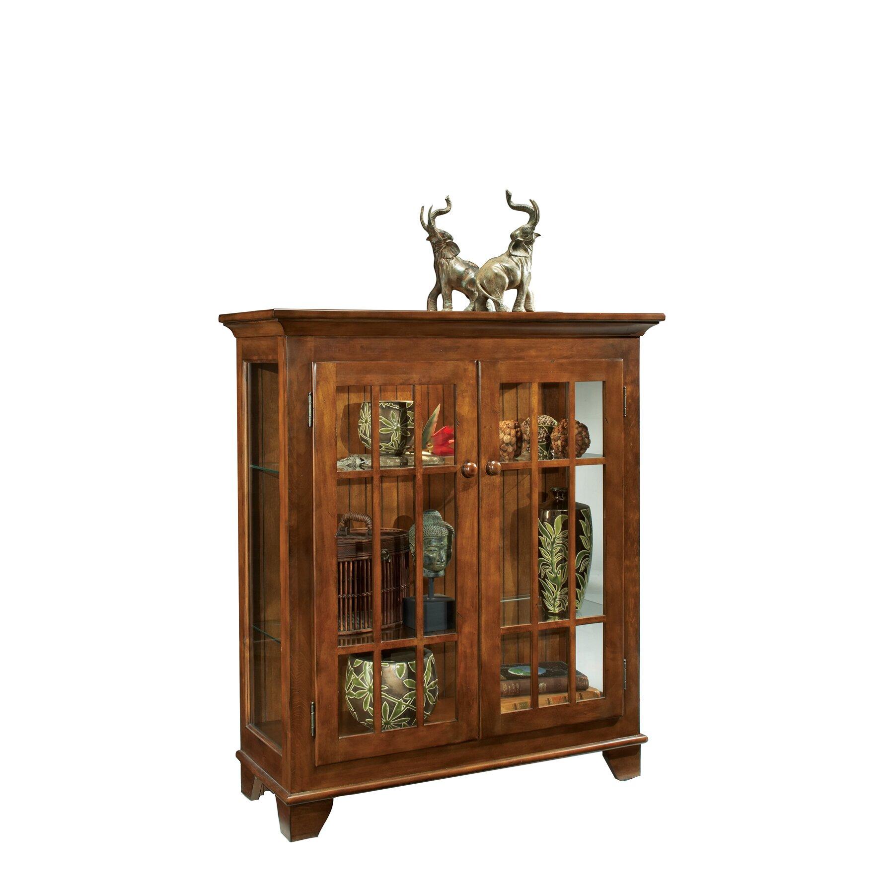 Philip Reinisch Co Colortime Console Curio Cabinet
