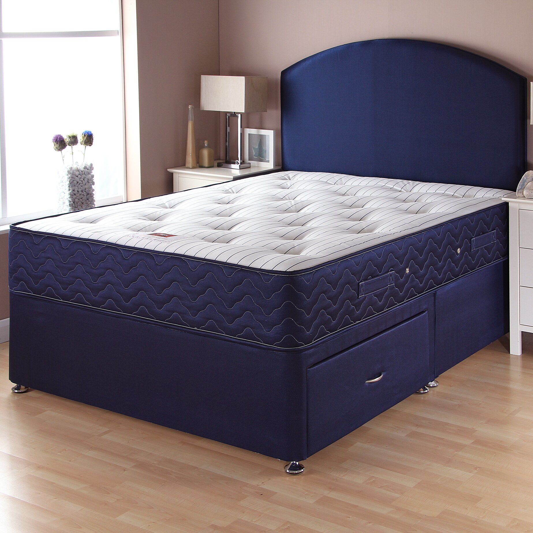 Airsprung beds catalina pocket sprung divan bed wayfair uk for King size divan bed sale