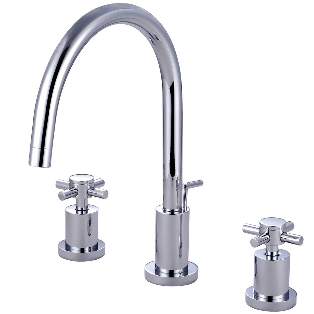 Elements Of Design Concord Double Handle Single Hole Widespread Bathroom Faucet With Brass Pop