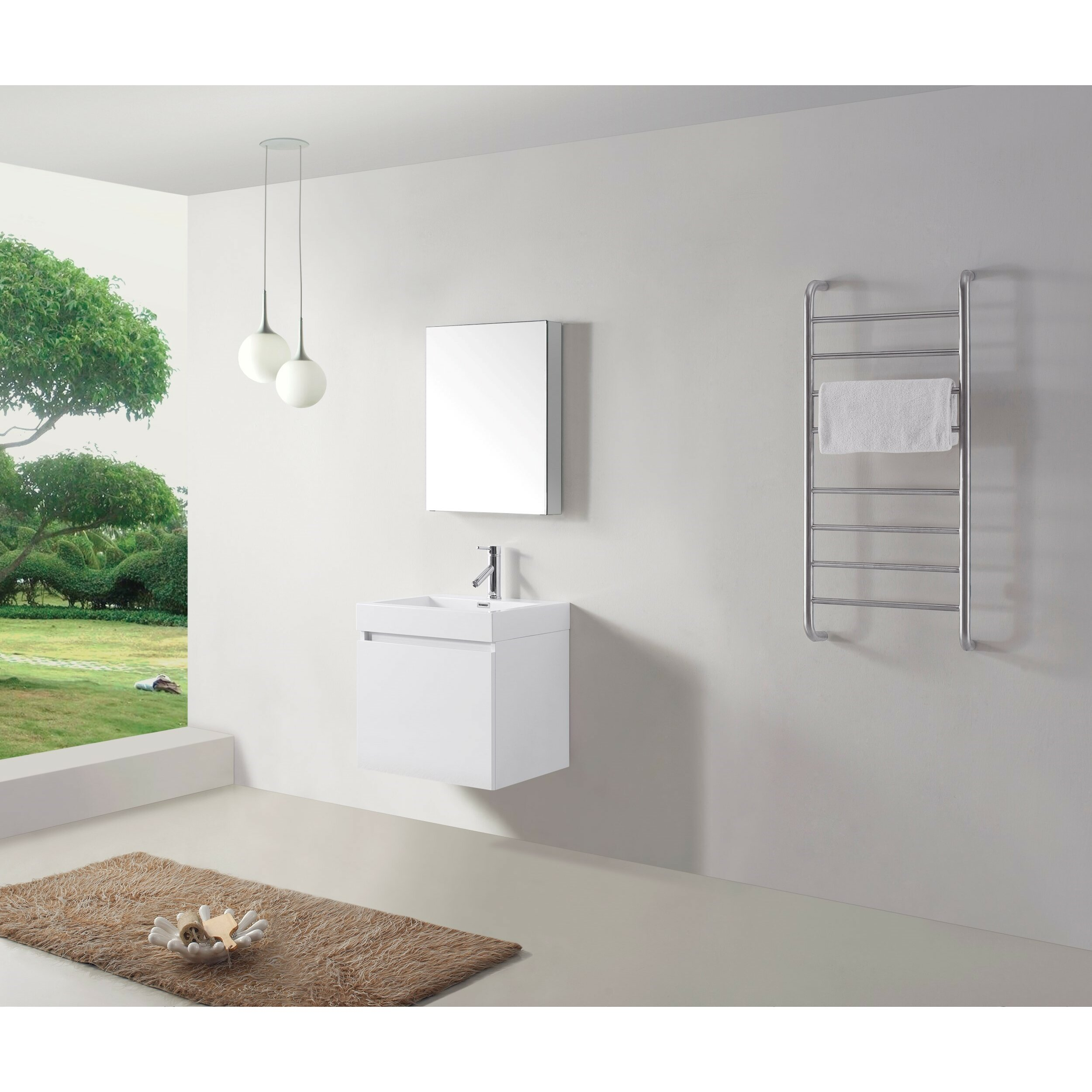 "Virtu Zuri 24"" Single Bathroom Vanity Set with White Top ..."