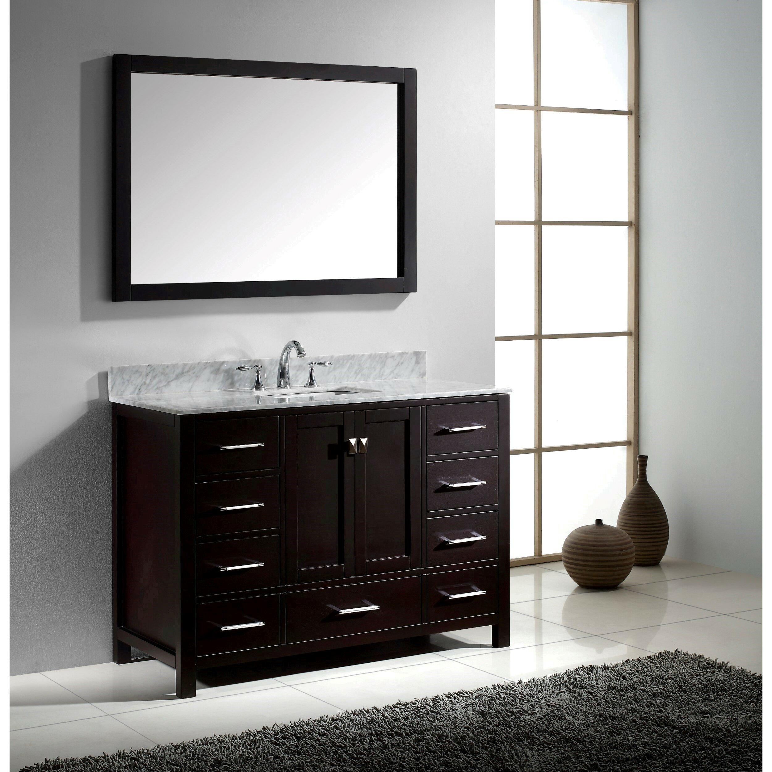 Virtu Caroline Avenue 48 Single Bathroom Vanity Set With Mirror Wayfair
