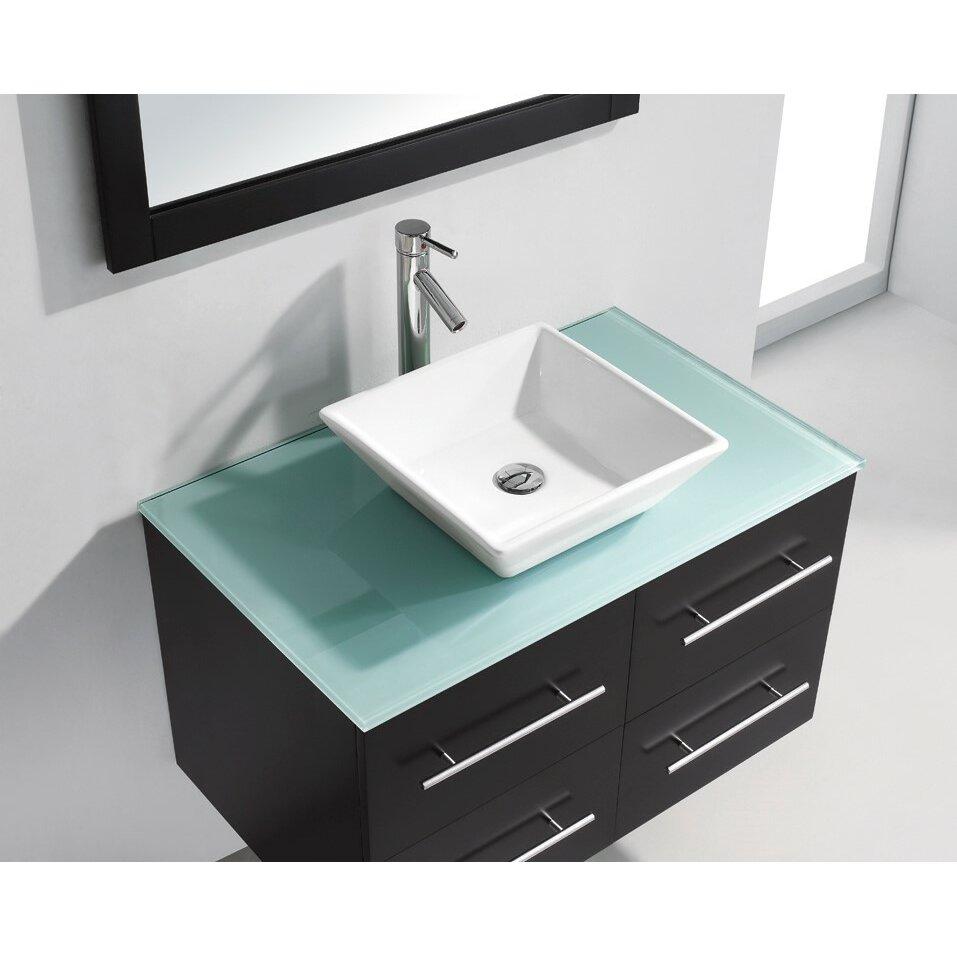 Virtu Marsala 35 4 Quot Single Bathroom Vanity Set With Blue