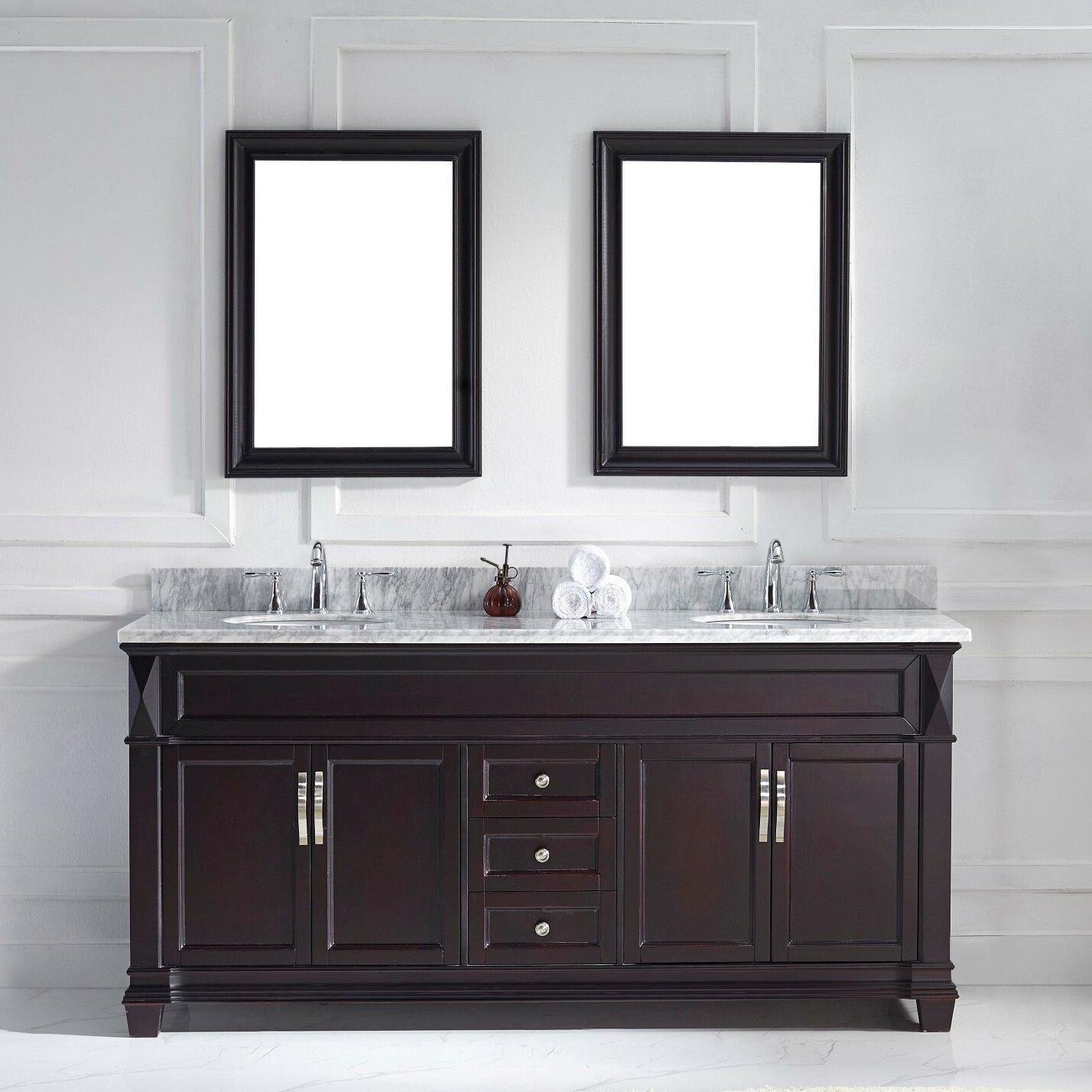 bathroom vanity and mirror set virtu 72 quot bathroom vanity