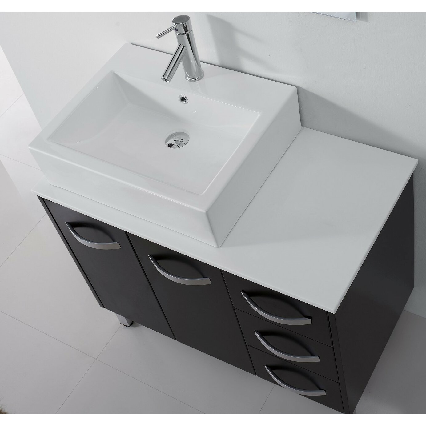Lastest Ultra Modern Black Sink Vanityamp Mirror For 10512