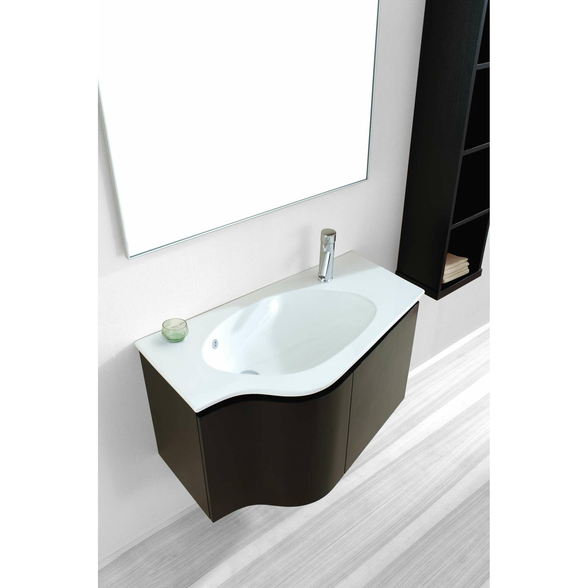 virtu roselle 35 single floating bathroom vanity set with. Black Bedroom Furniture Sets. Home Design Ideas
