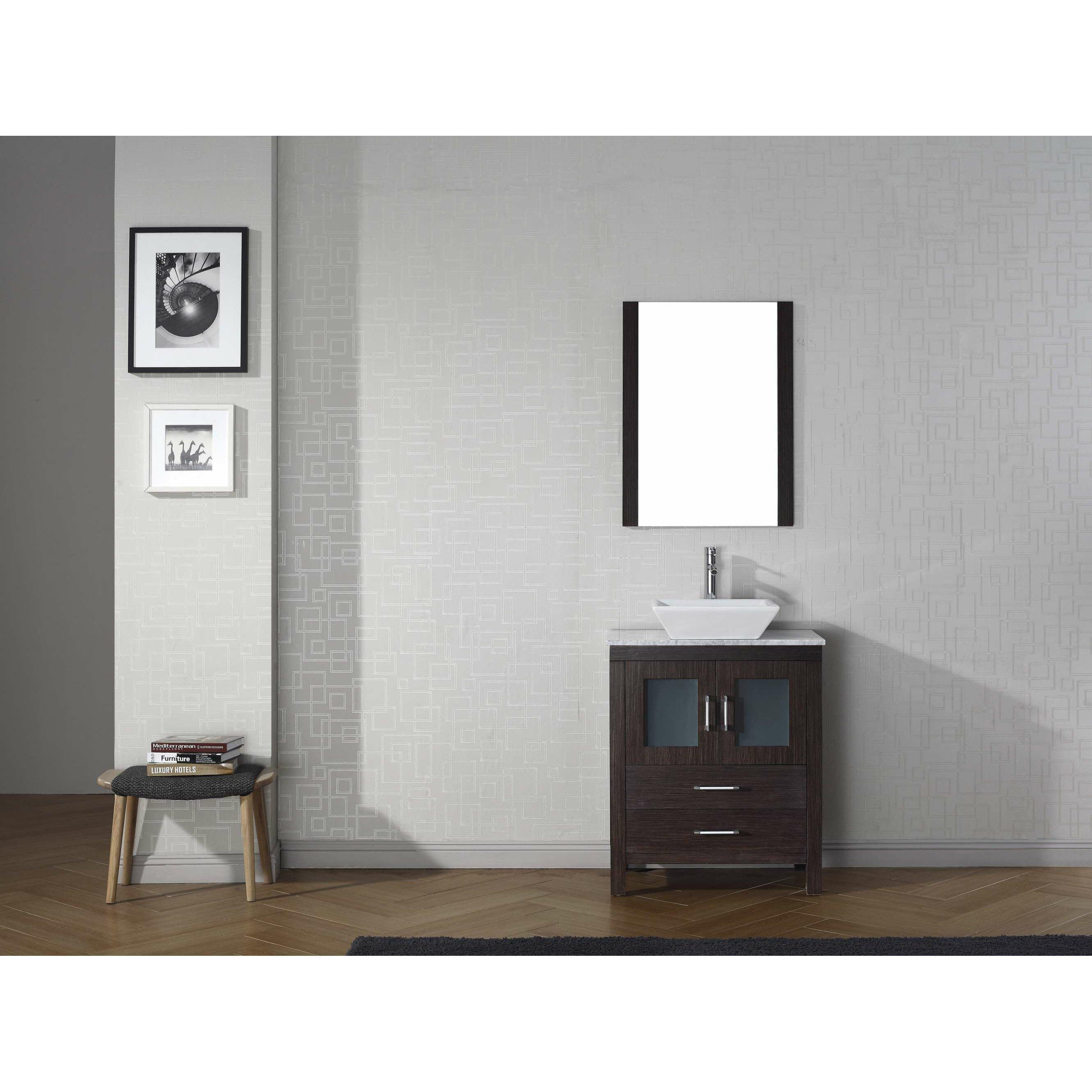 "Virtu Dior 28 4"" Single Bathroom Vanity Set with White"