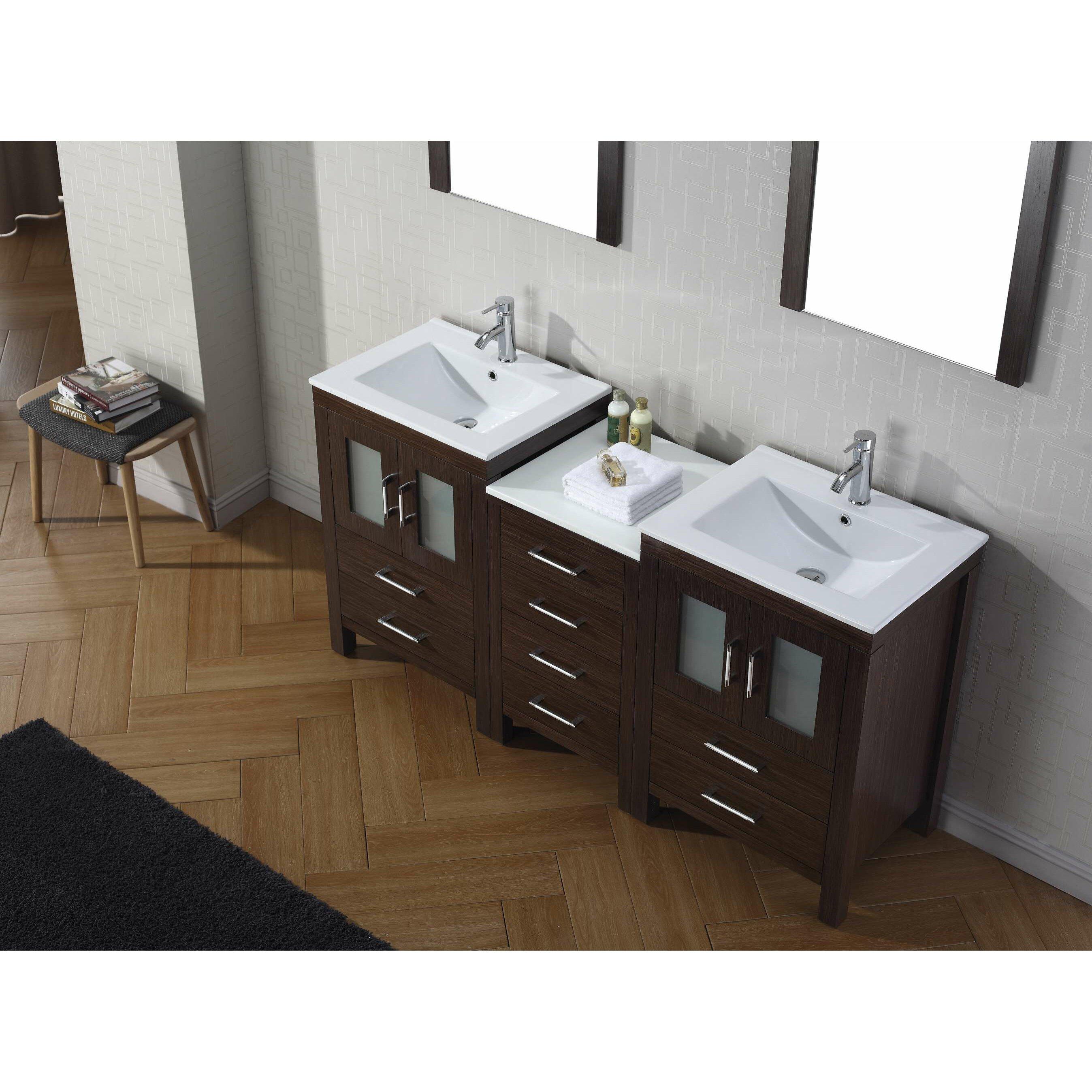virtu 66 quot bathroom vanity set with mirror