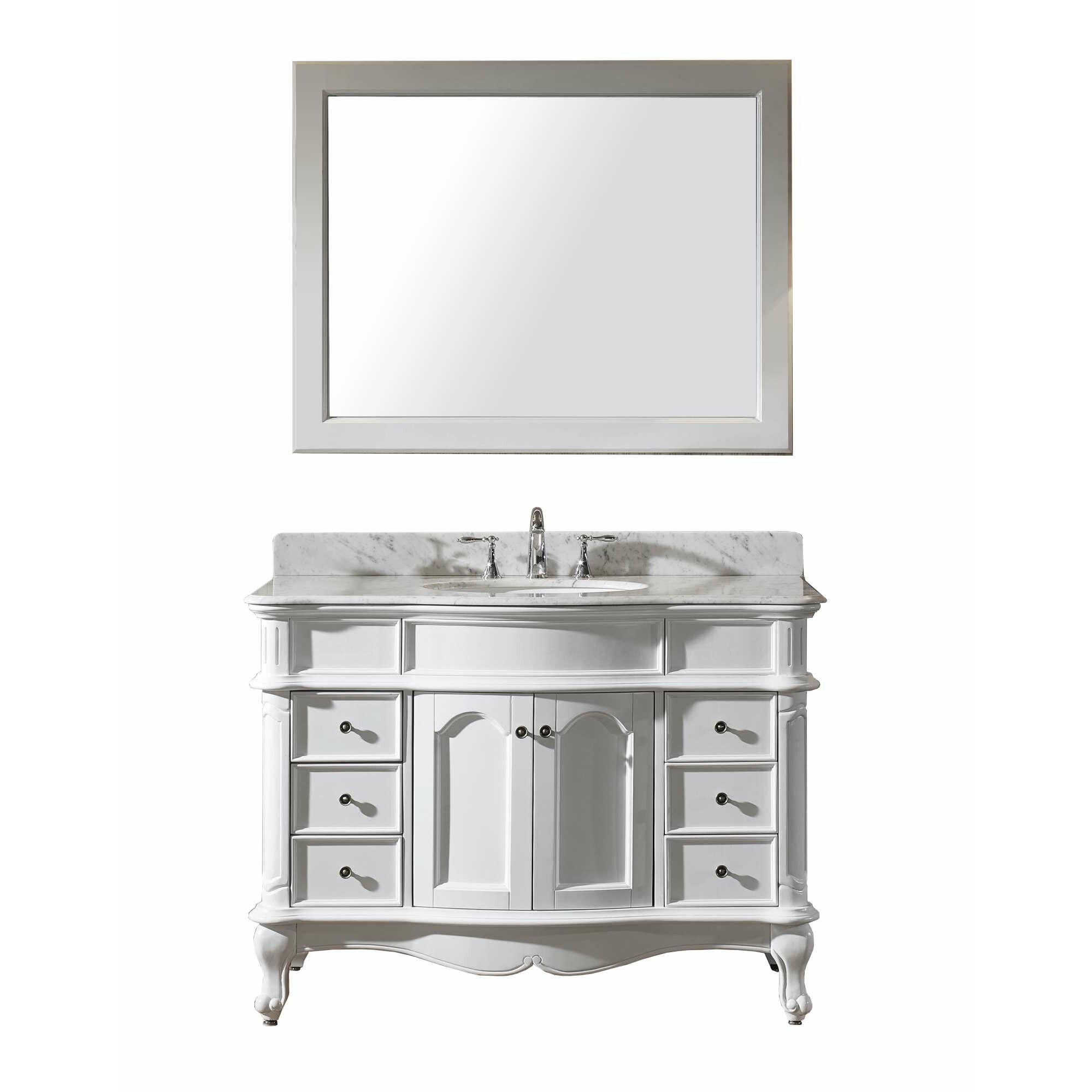 Virtu Norhaven 48 Single Bathroom Vanity Set With Mirror
