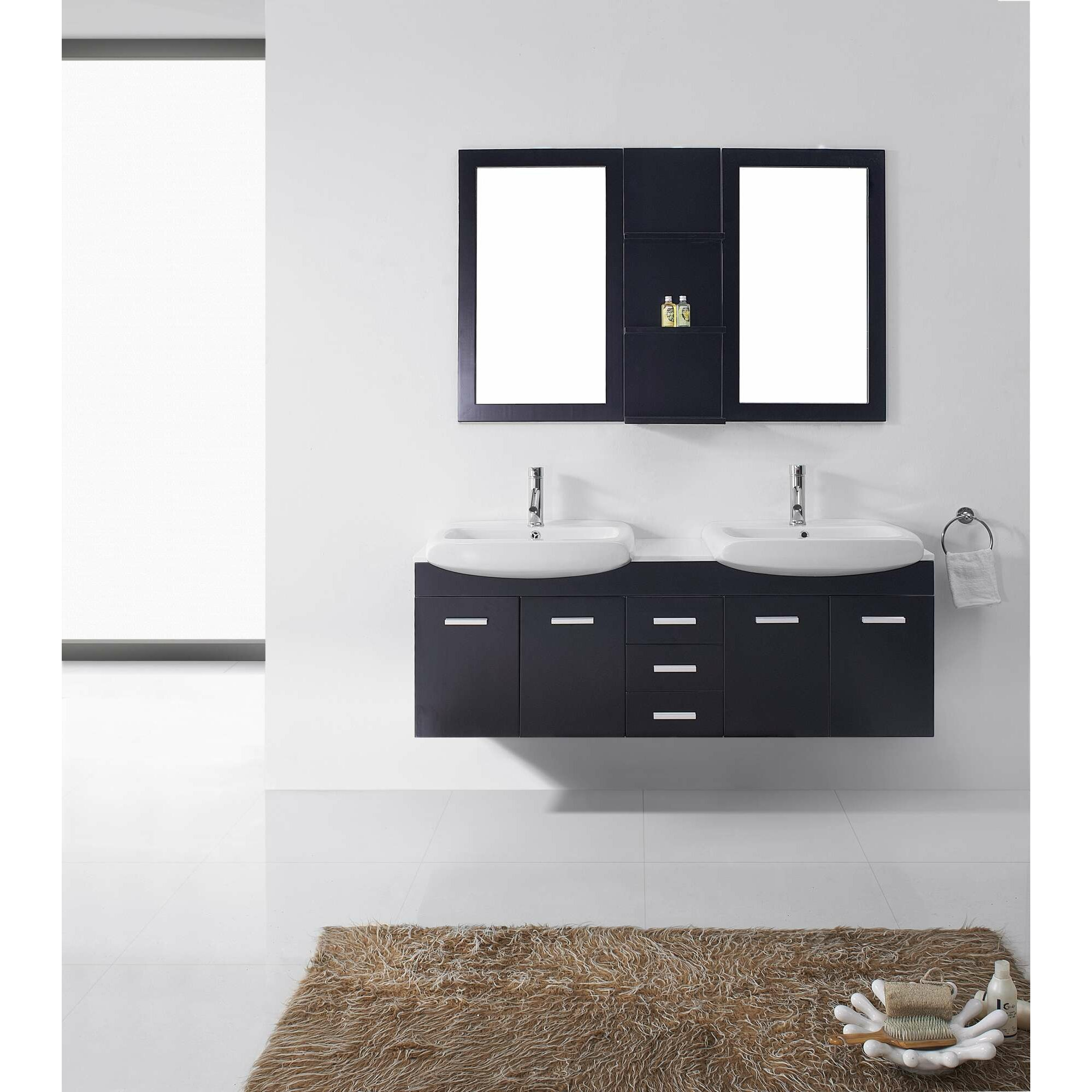Creative Ultra Modern Series 71quot Double Bathroom Vanity Set With Mirror By