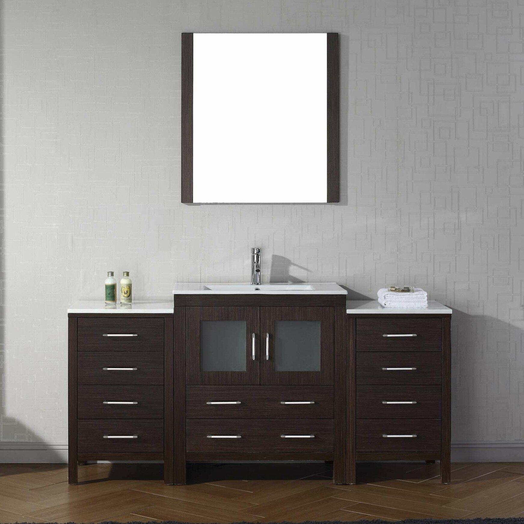 virtu 66 quot single bathroom vanity set with mirror
