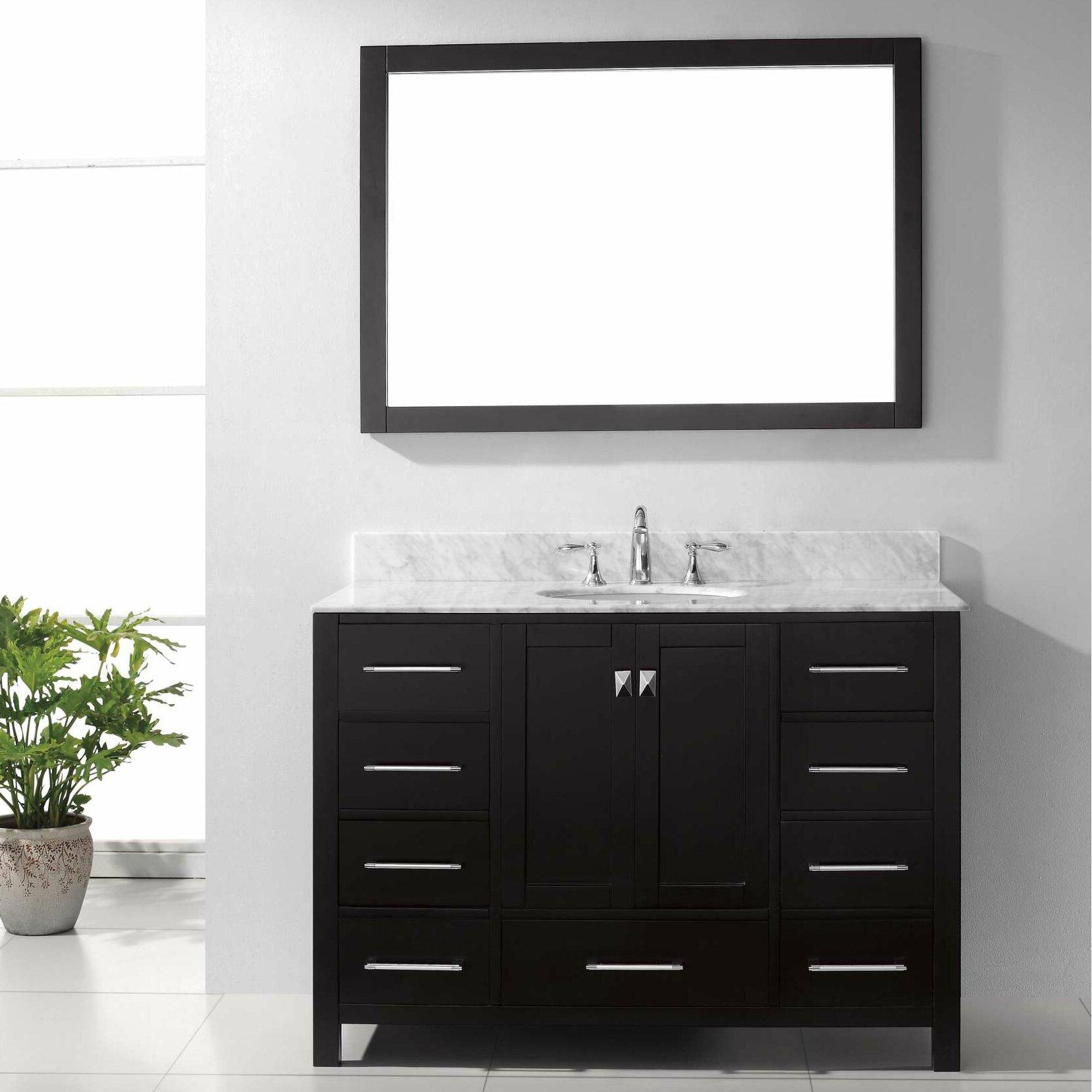 Virtu Caroline Avenue 48 Single Bathroom Vanity Set With