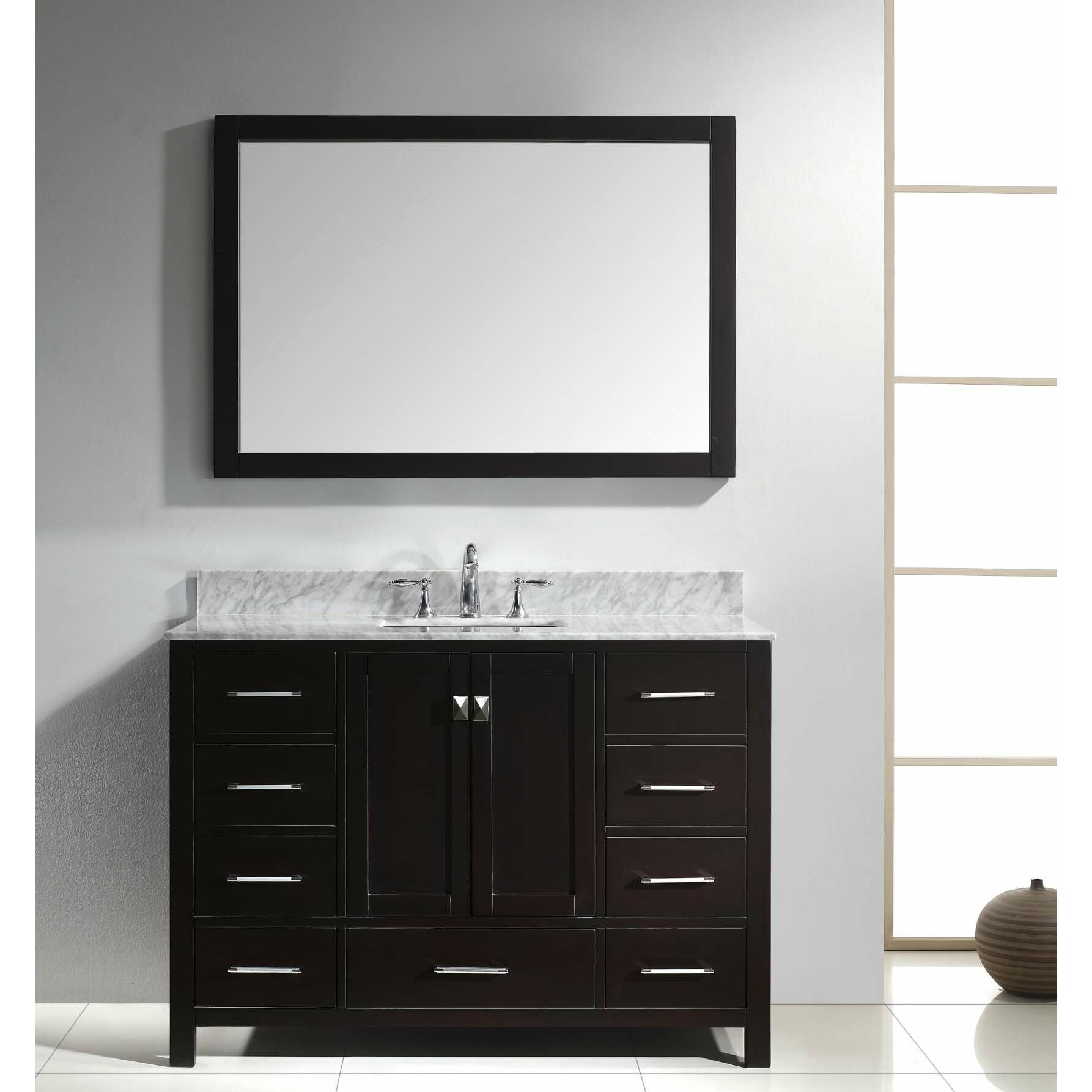 virtu caroline avenue 48 quot single bathroom vanity set with