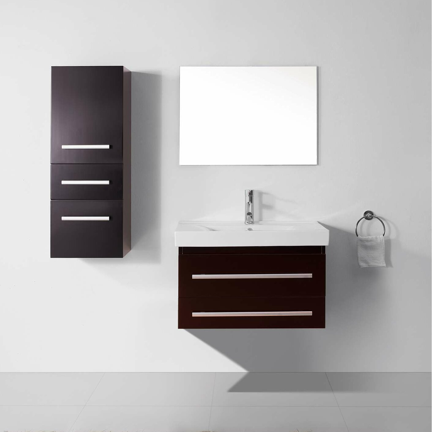 Virtu Ultra Modern Series 29 Single Bathroom Vanity Set