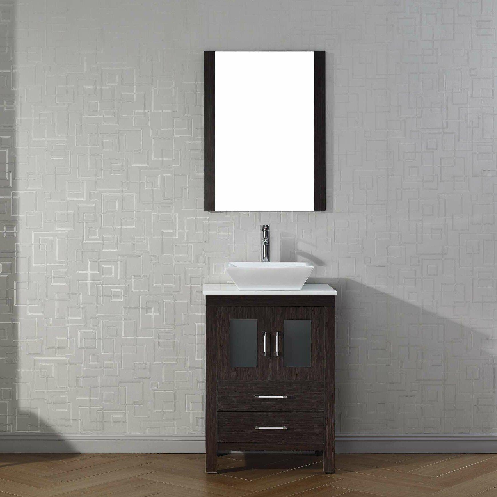 Virtu Dior 25 Single Bathroom Vanity Set With Mirror Reviews Wayfair