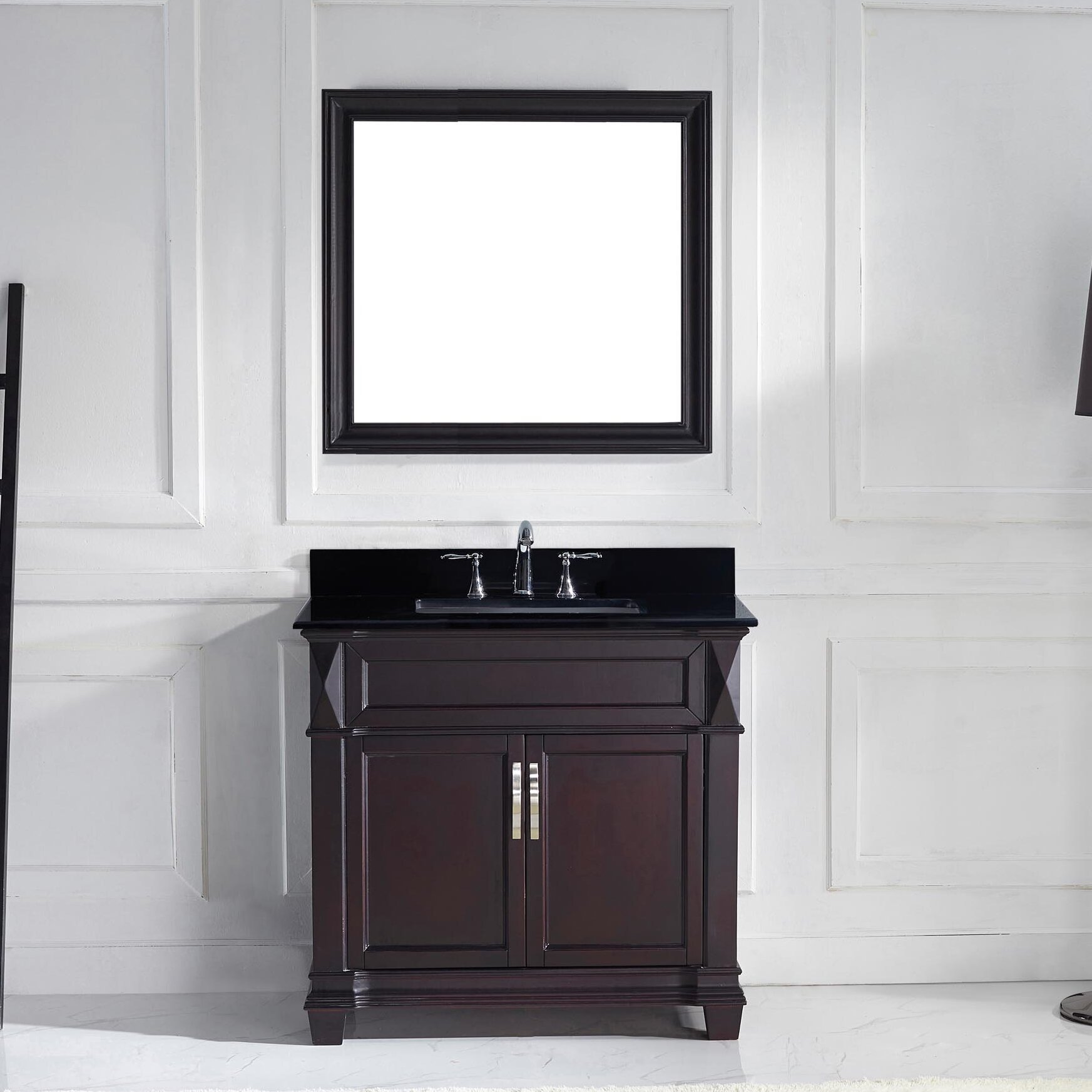 virtu 36 quot single bathroom vanity set with black