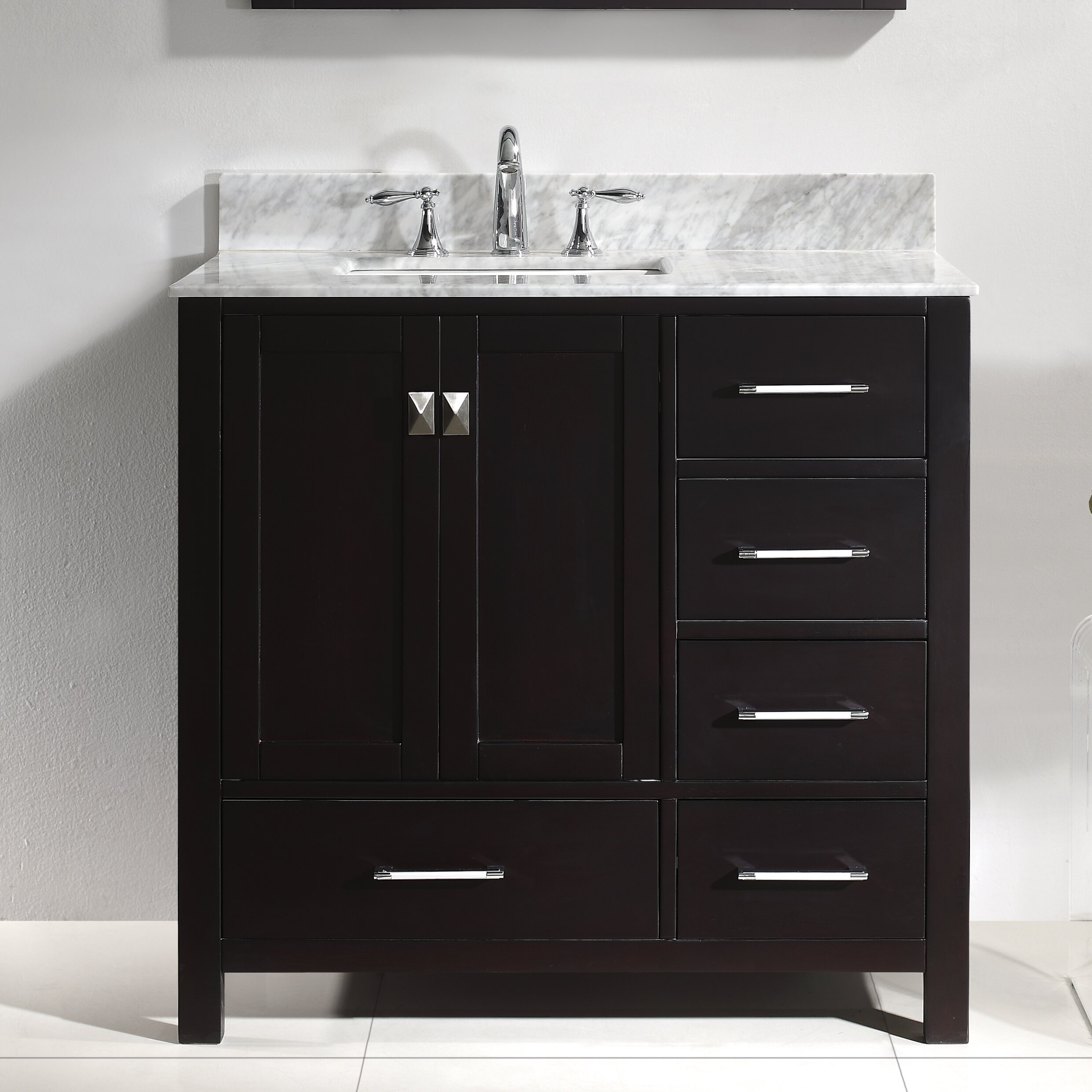 virtu caroline avenue 36 8 quot single bathroom vanity set 21479