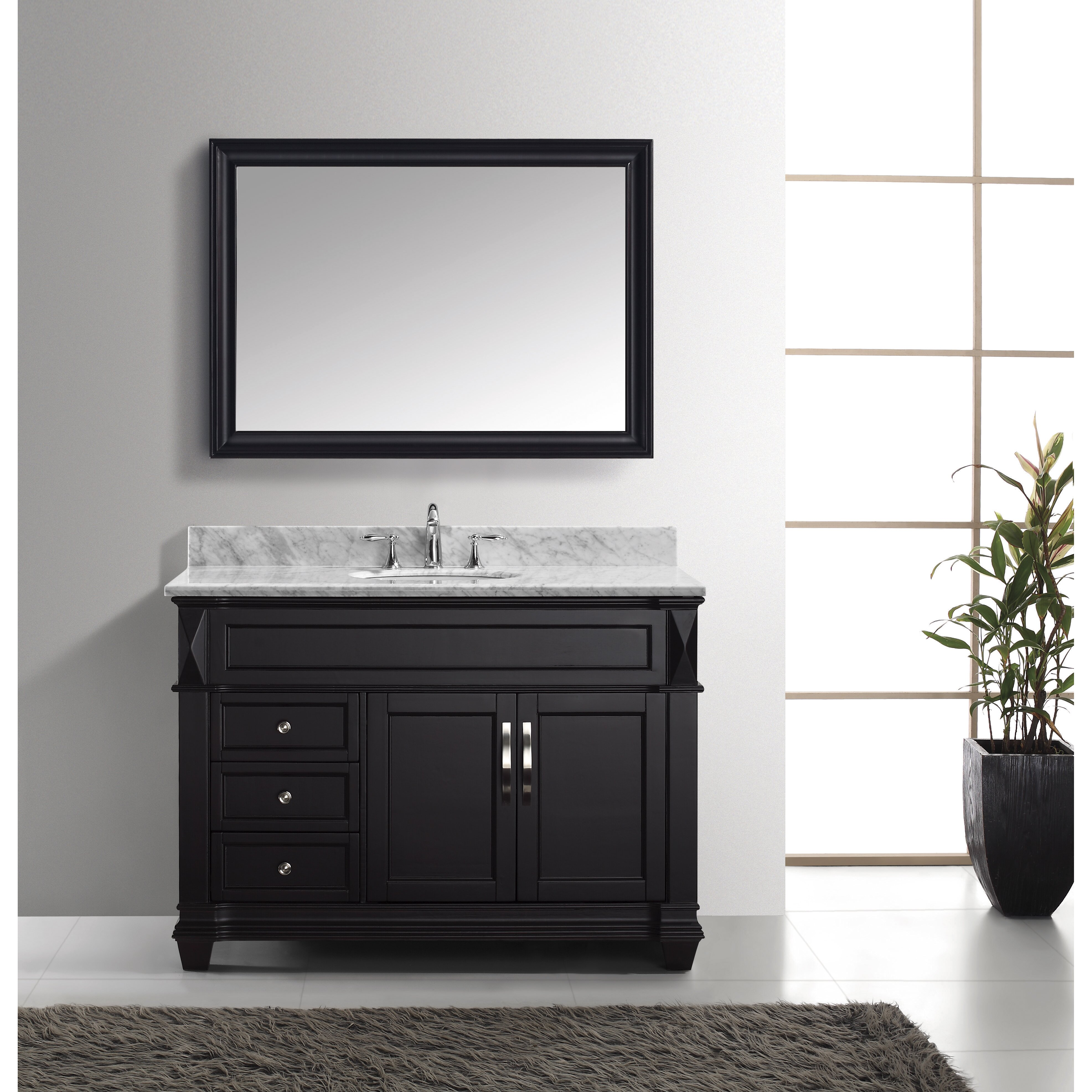 virtu 48 8 quot single bathroom vanity set with