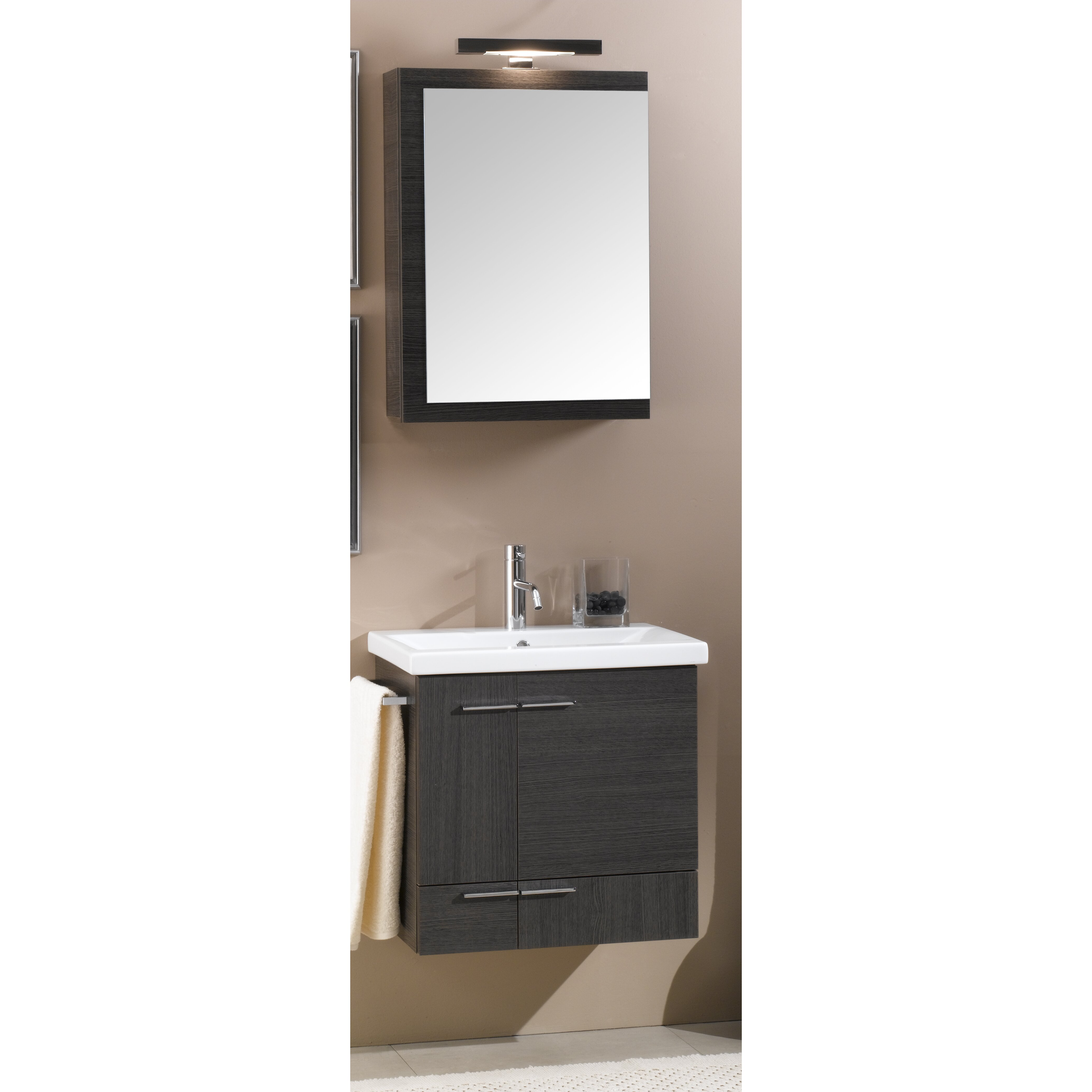 Iotti by nameeks simple 23 quot single wall mounted bathroom vanity set with mirror amp reviews