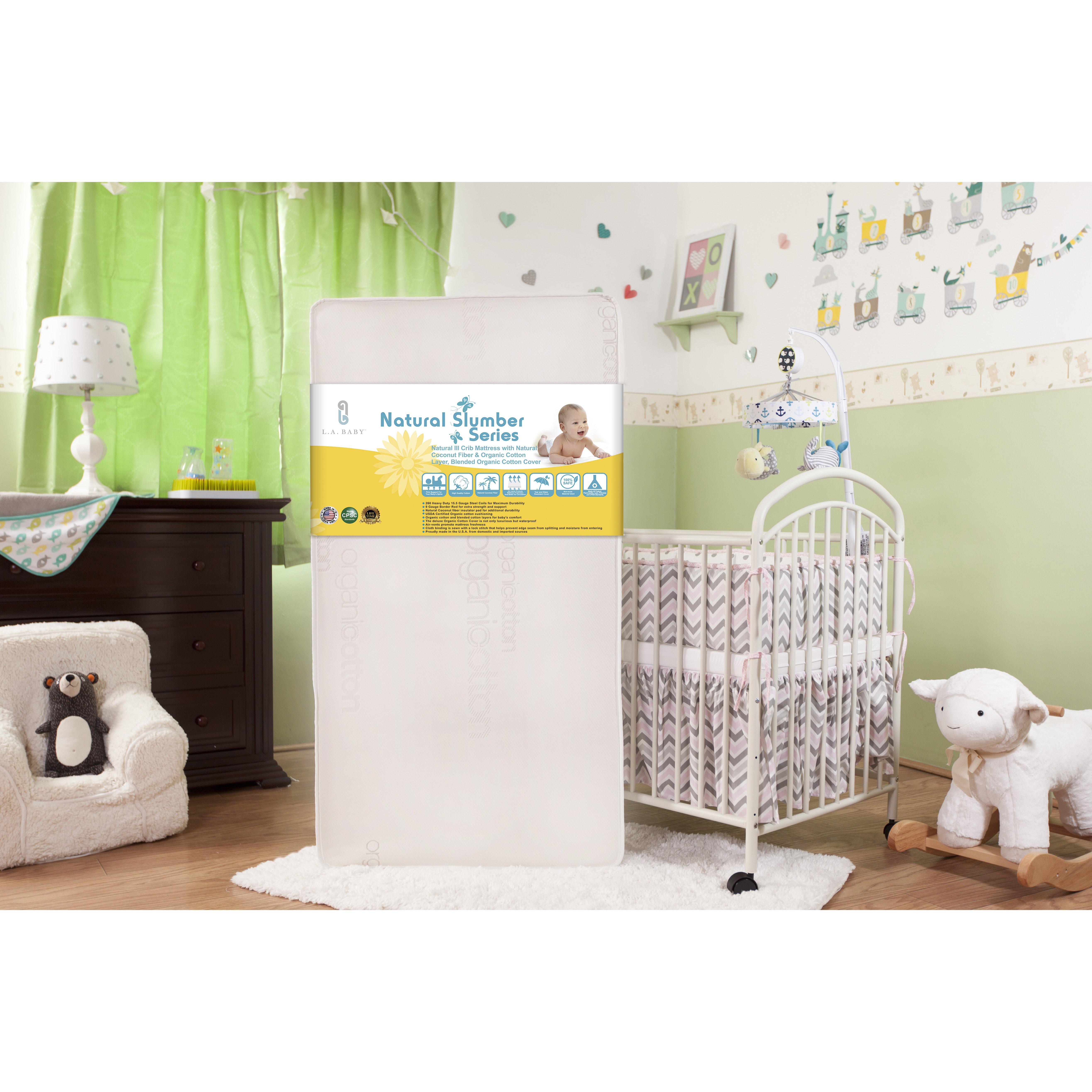 L A Baby Natural Iii 5 75 Quot Crib Mattress With Natural
