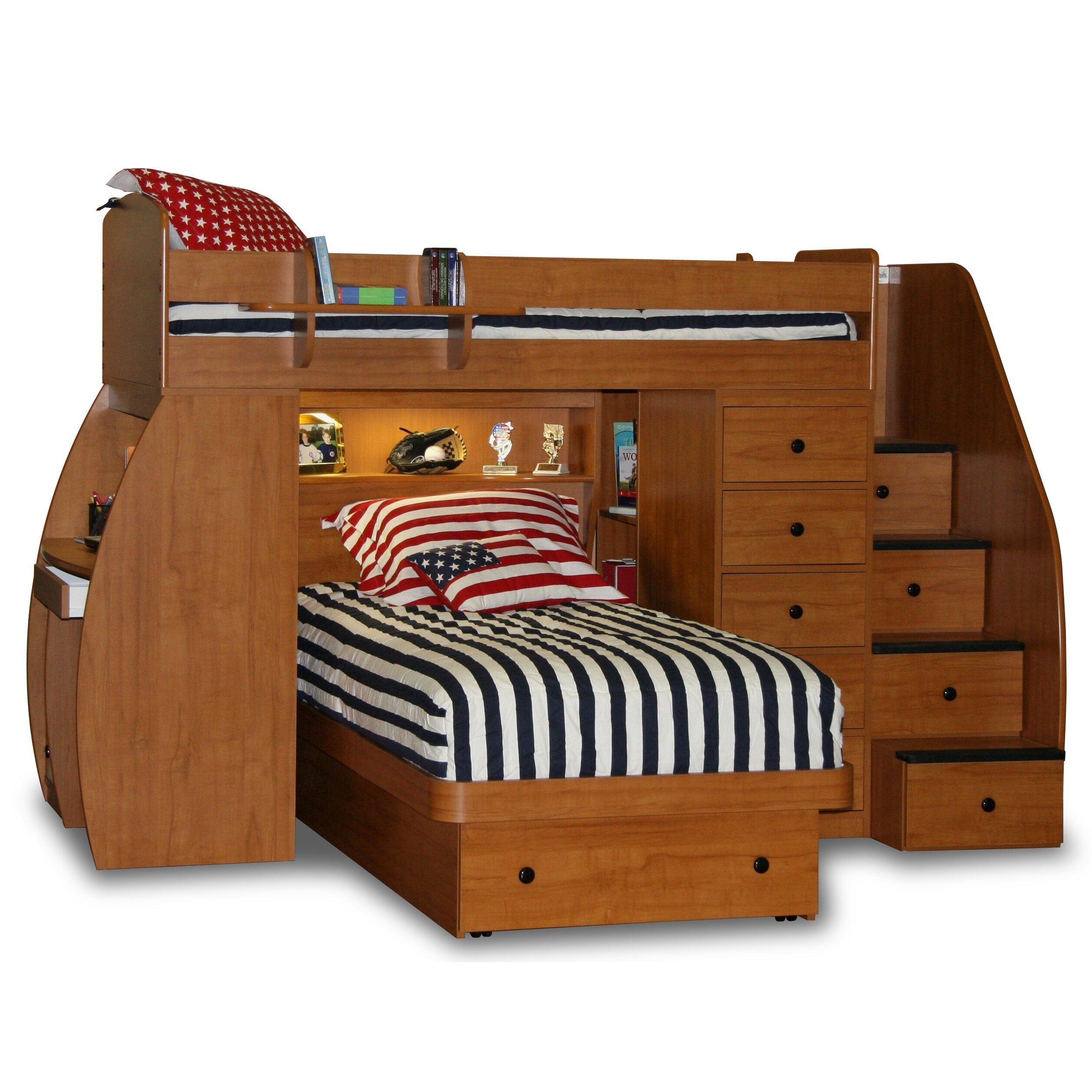 Berg Bunk Beds With Desk