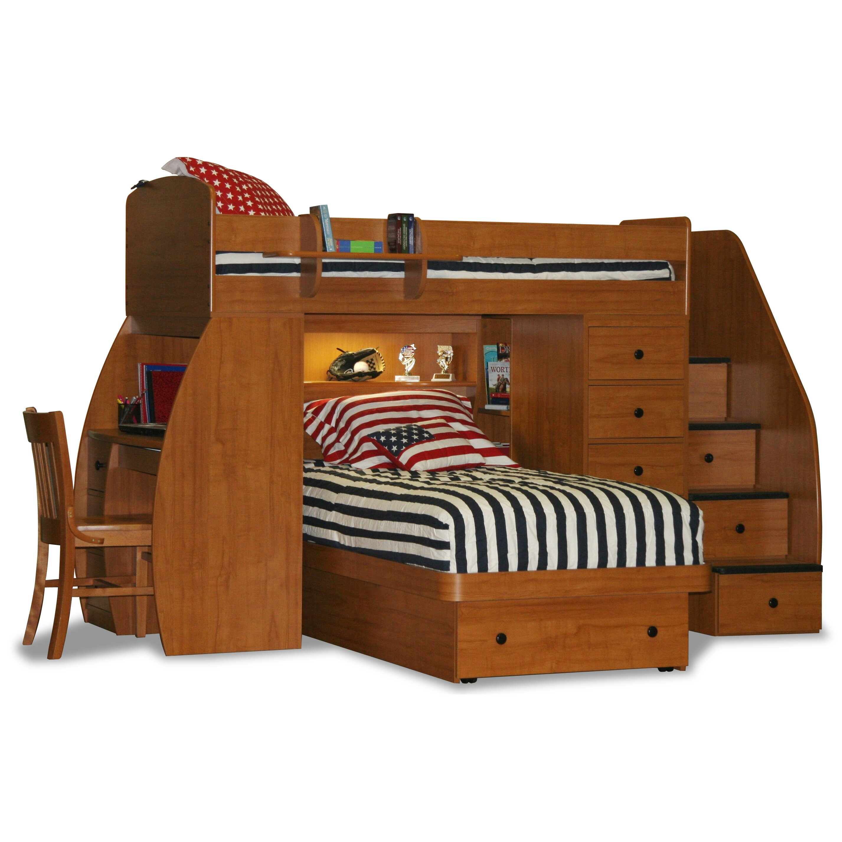 berg sierra twin l shaped bunk bed with storage reviews. Black Bedroom Furniture Sets. Home Design Ideas