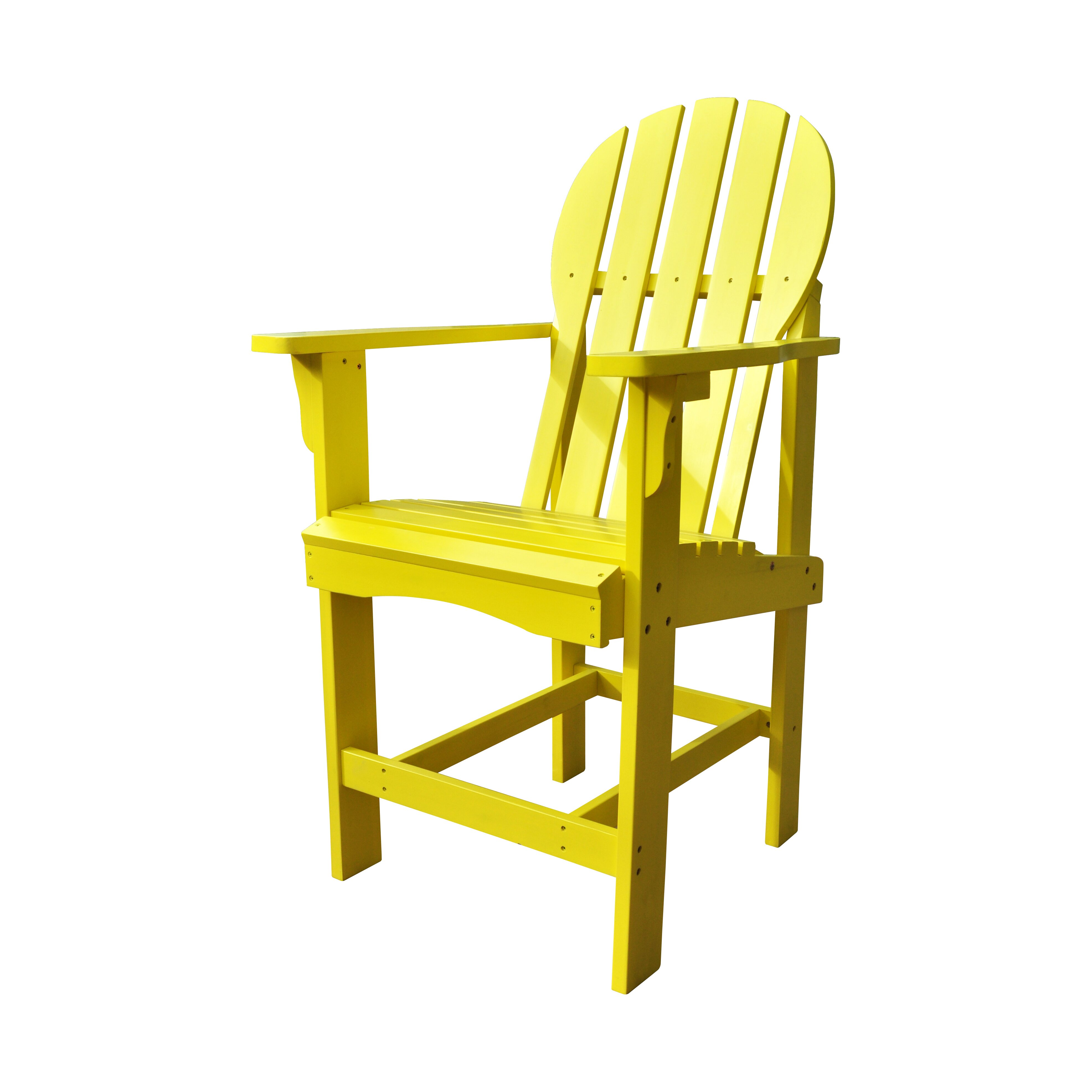 Amazing photo of Shine Company Inc. Captiva Counter Height Adirondack Chair & Reviews  with #6A4E03 color and 3944x3944 pixels