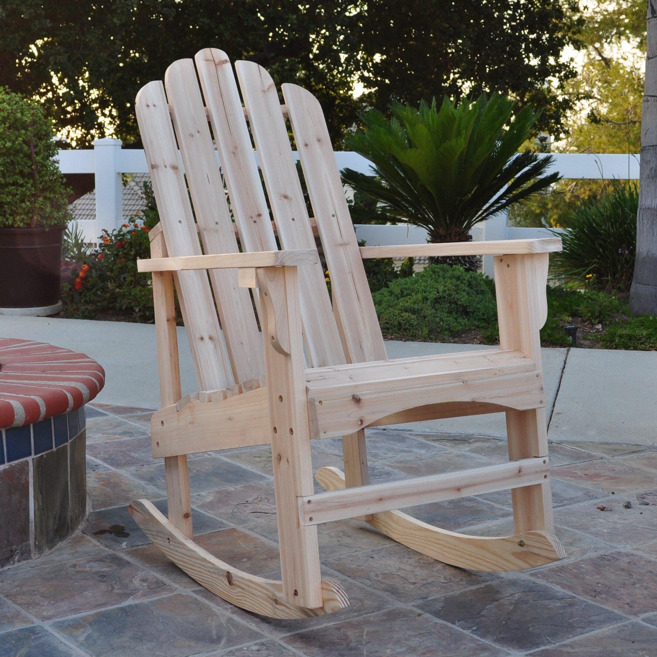 Outdoor Patio Furniture ... Wood Adirondack Chairs Shine Company Inc ...