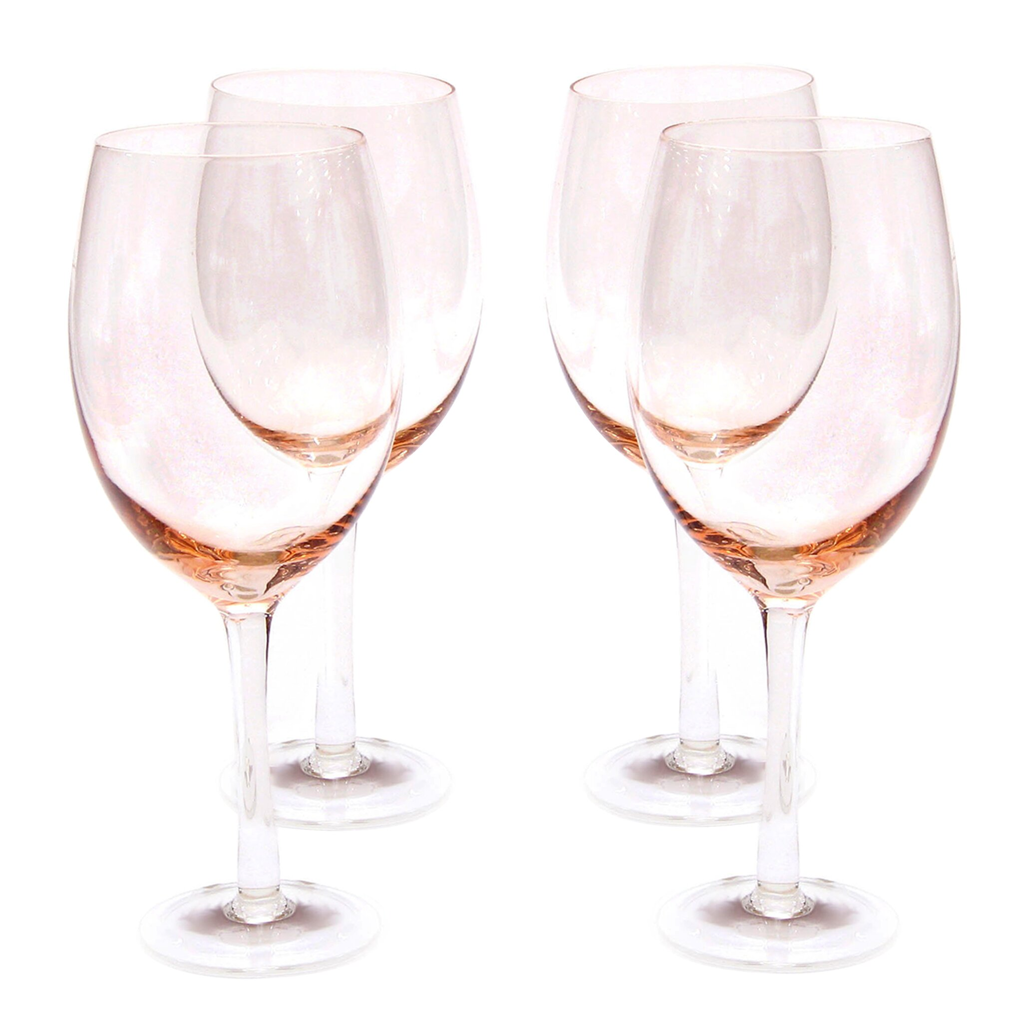 certified international glass stemware 20 oz peach white. Black Bedroom Furniture Sets. Home Design Ideas
