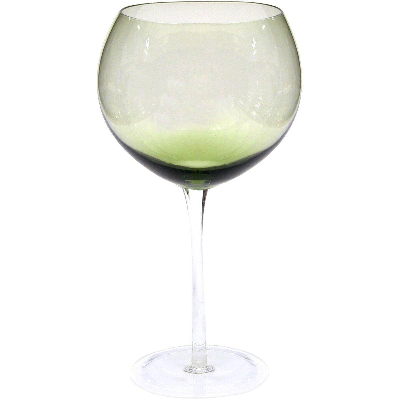Certified International Glass Stemware 28 Oz Olive Green