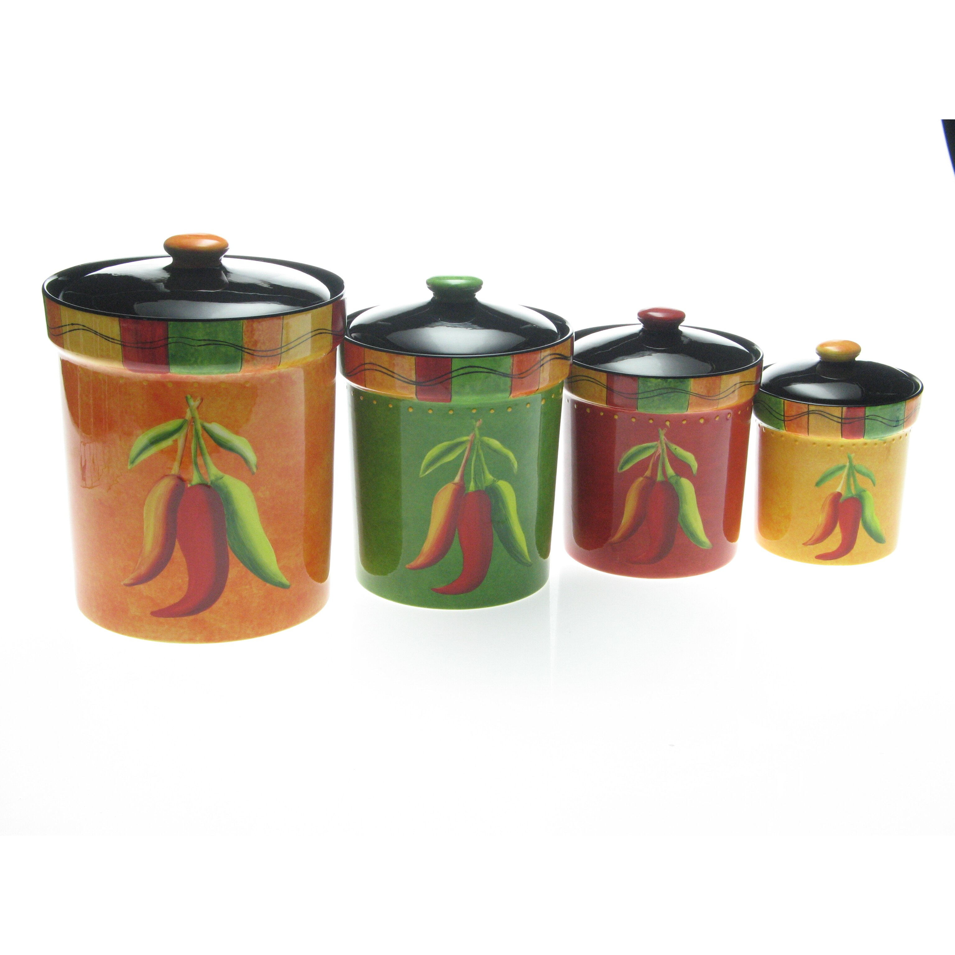 canisters set of 4 certified international caliente by joy hall 4 piece
